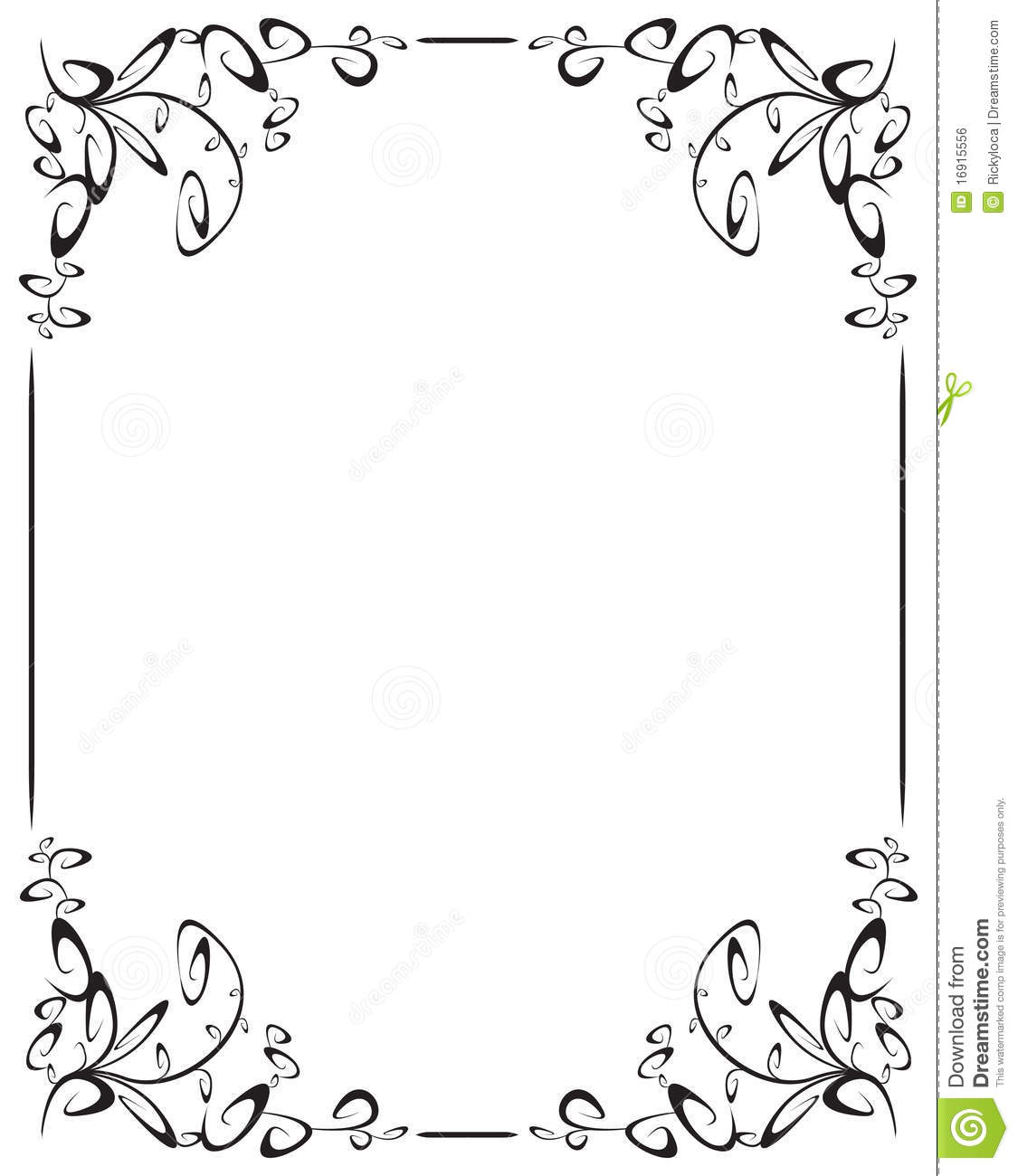 . Frame With 4 Corner Decoration Stock Vector   Illustration of