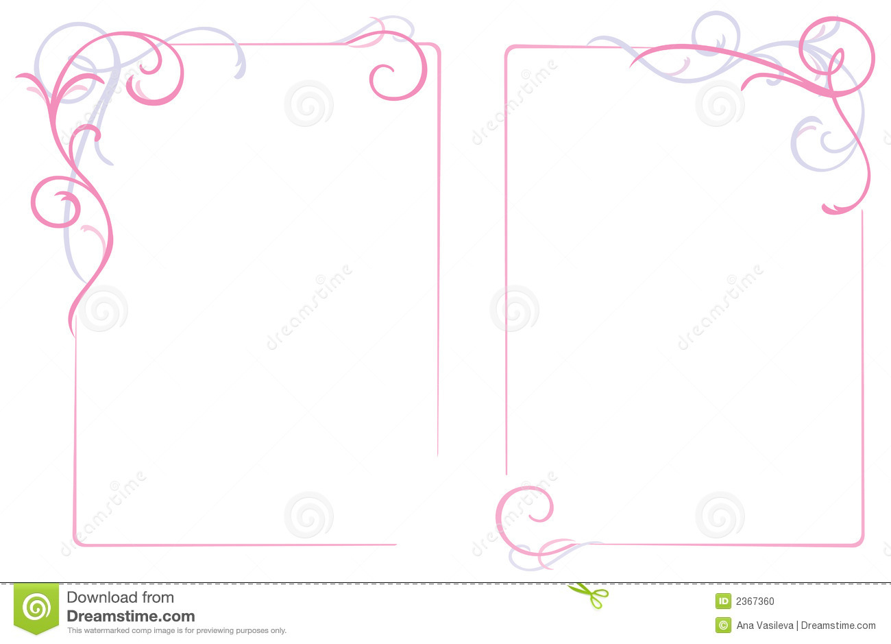 Frame abstrato do ornamento floral