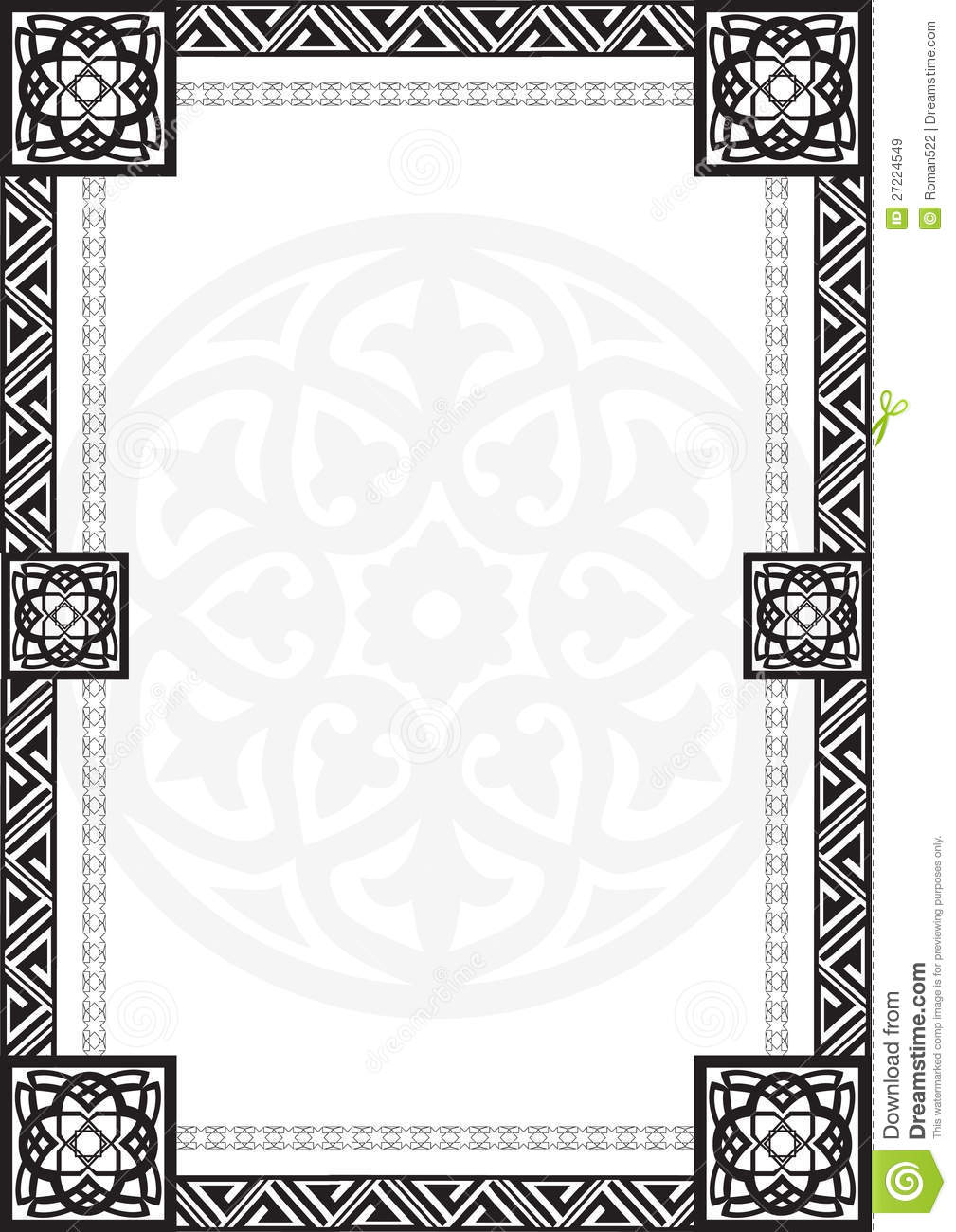 More similar stock images of ` Frame with Arabic geometrical patterns ...