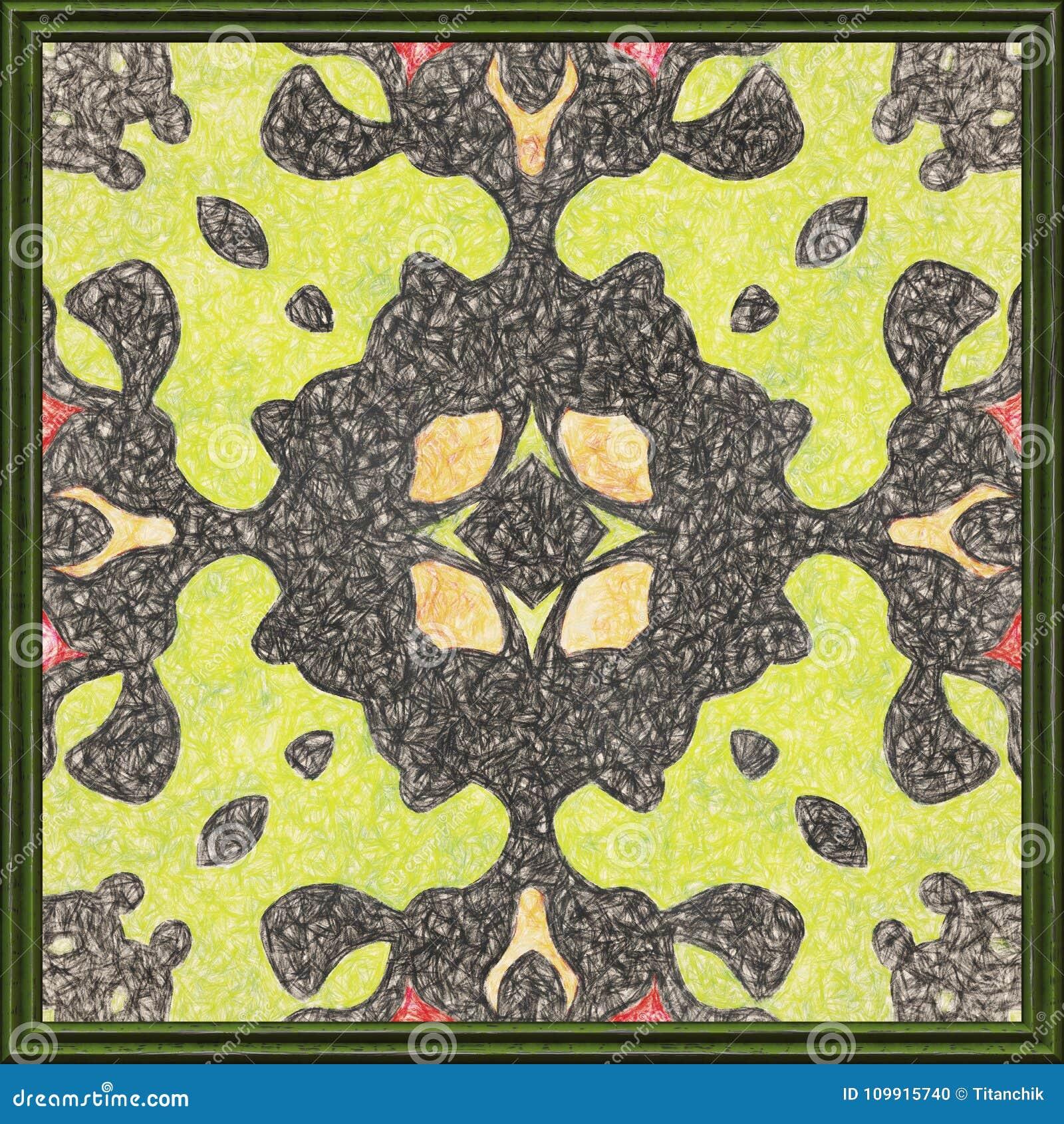 Frame Artwork Geometric Nature Pattern Oil Painting On