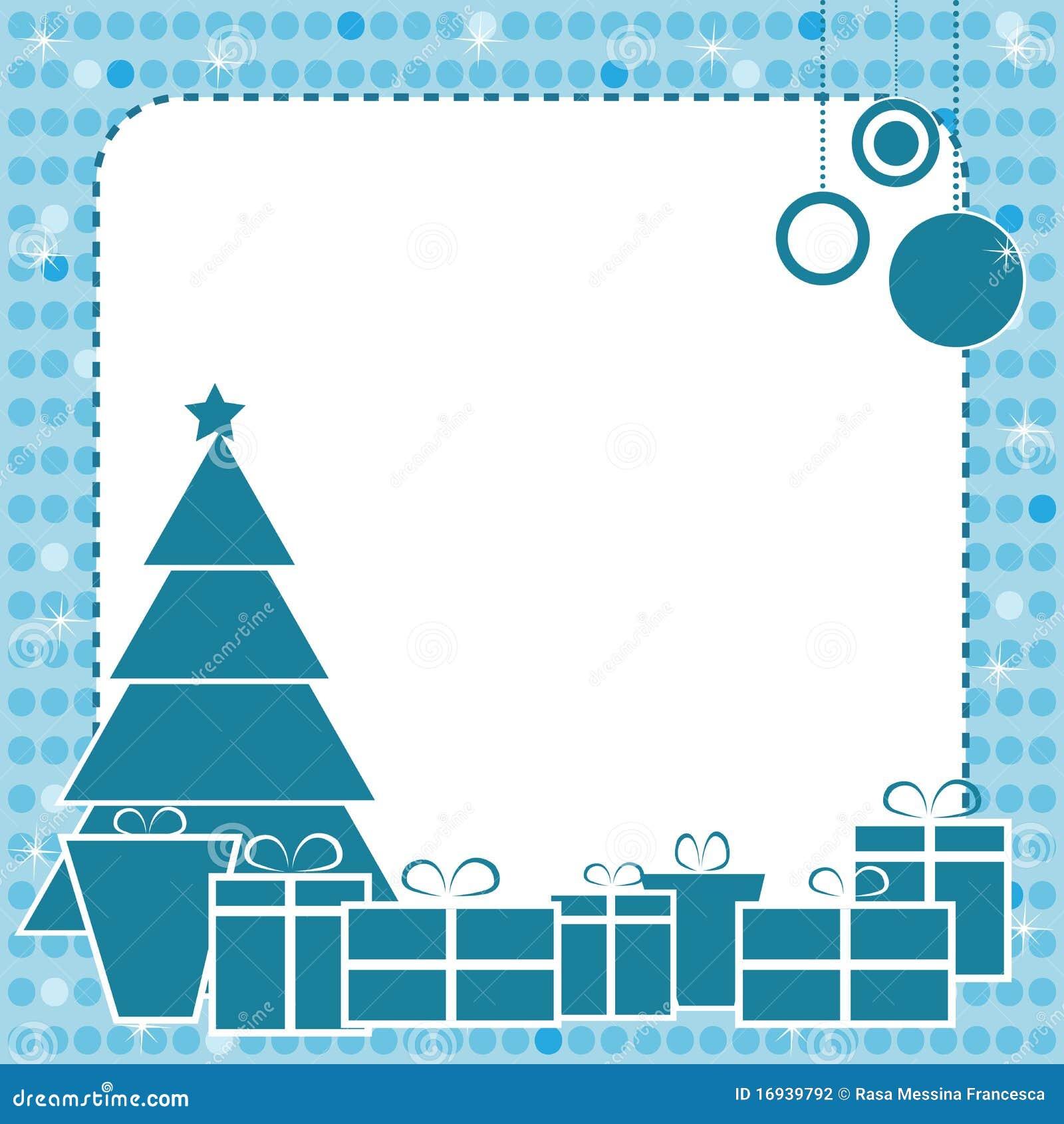 Frame azul do Natal