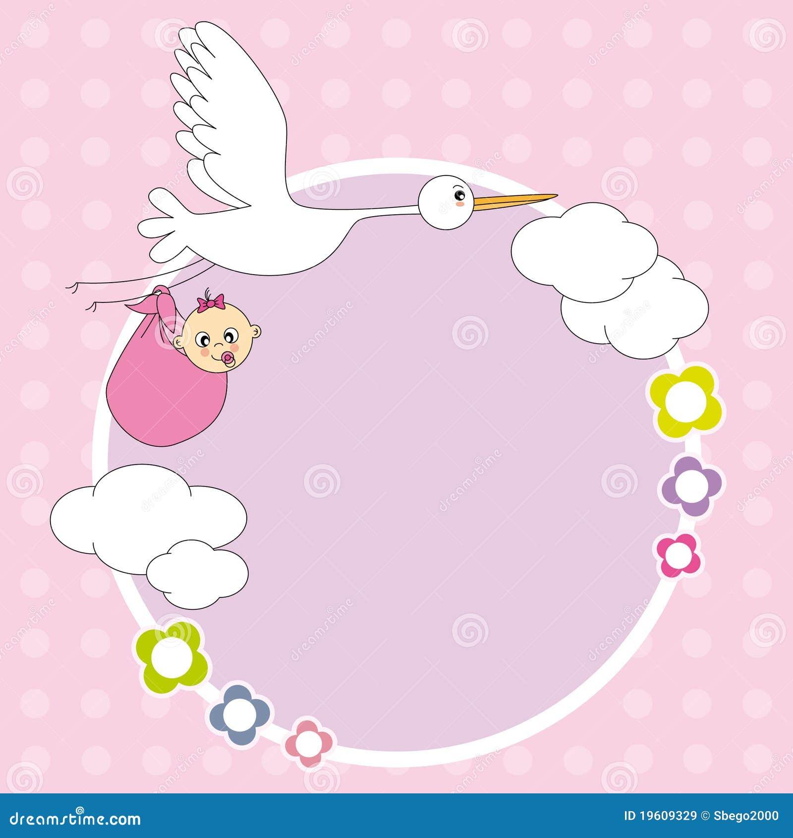 Frame baby girl stock vector. Illustration of tender - 19609329