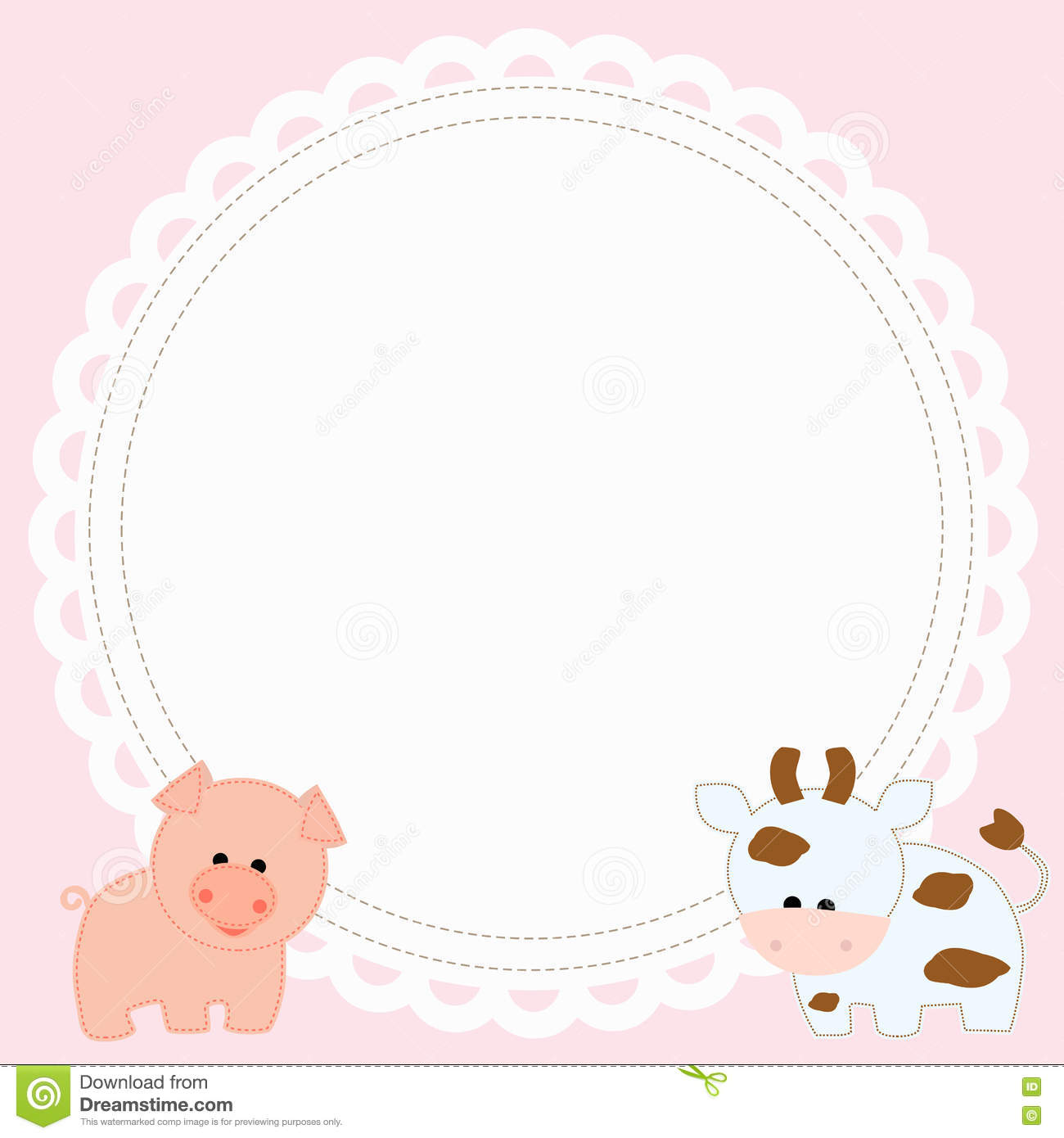 children 39 s round photo frame in the form of a swipe on a pink