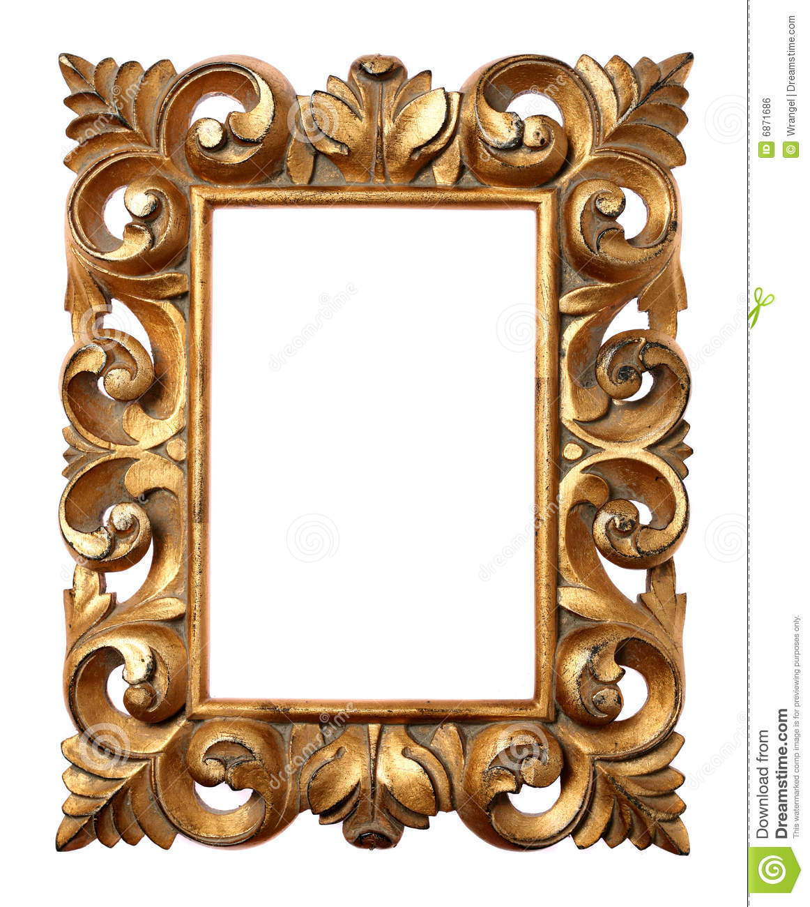 Frame barroco de madeira imagem de stock royalty free for Espejos finos decorativos