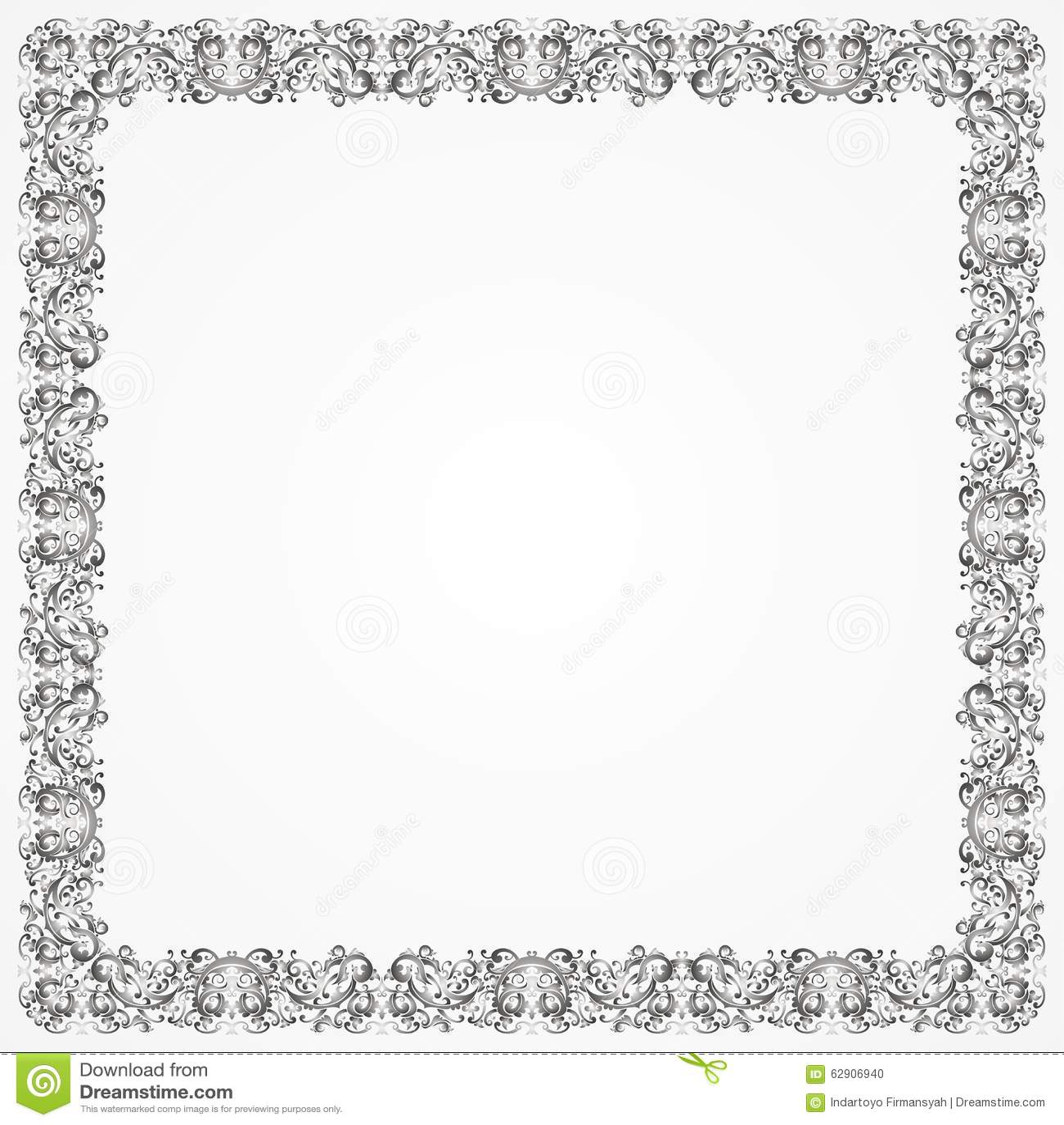 Frame Batik Silver Stock Illustration Image 62906940