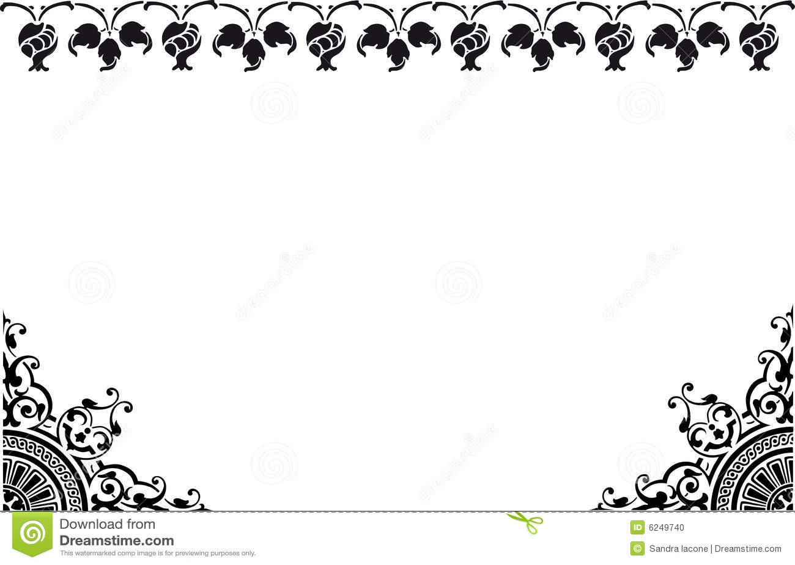 Frame black and white stock illustration. Image of ...