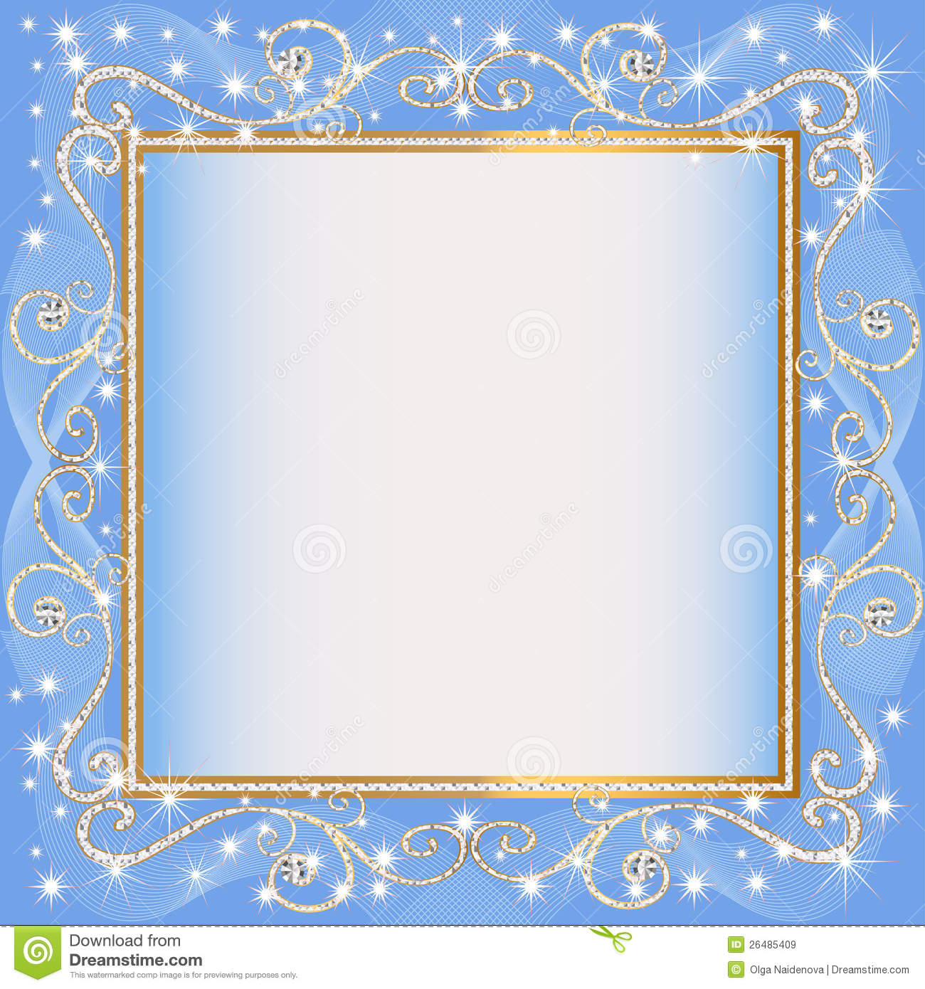 Frame blue background with goldenen sample stock vector frame blue background with goldenen sample jeuxipadfo Choice Image
