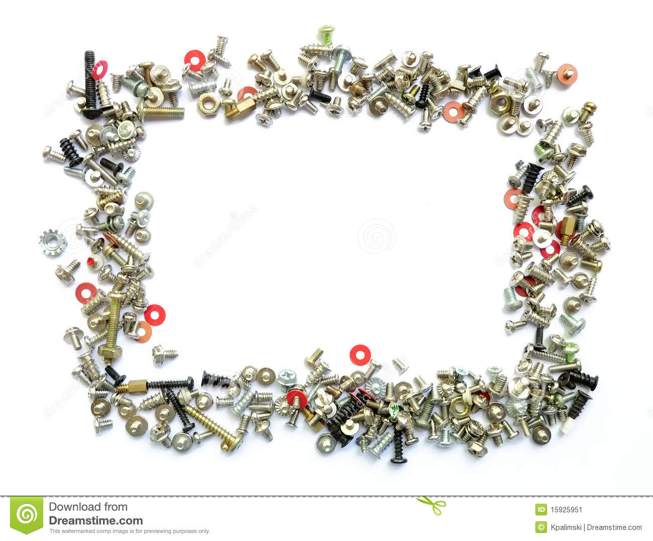Frame Of Bolts And Screws Stock Image - Image: 15925951