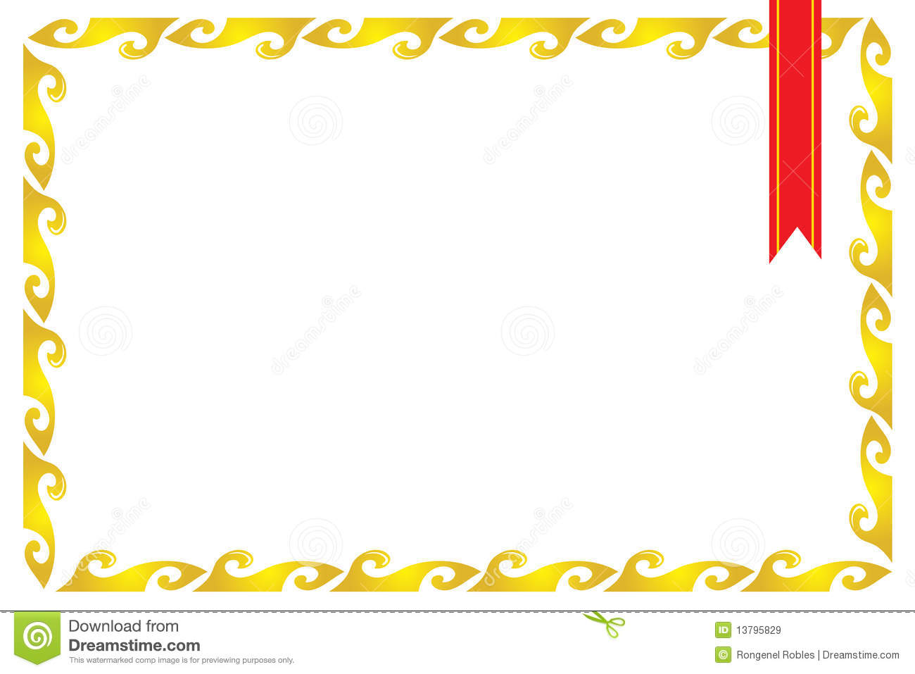 Royalty Free Stock Images Frame Border Certificate Image13795829 on Free Clipart Preschool Borders