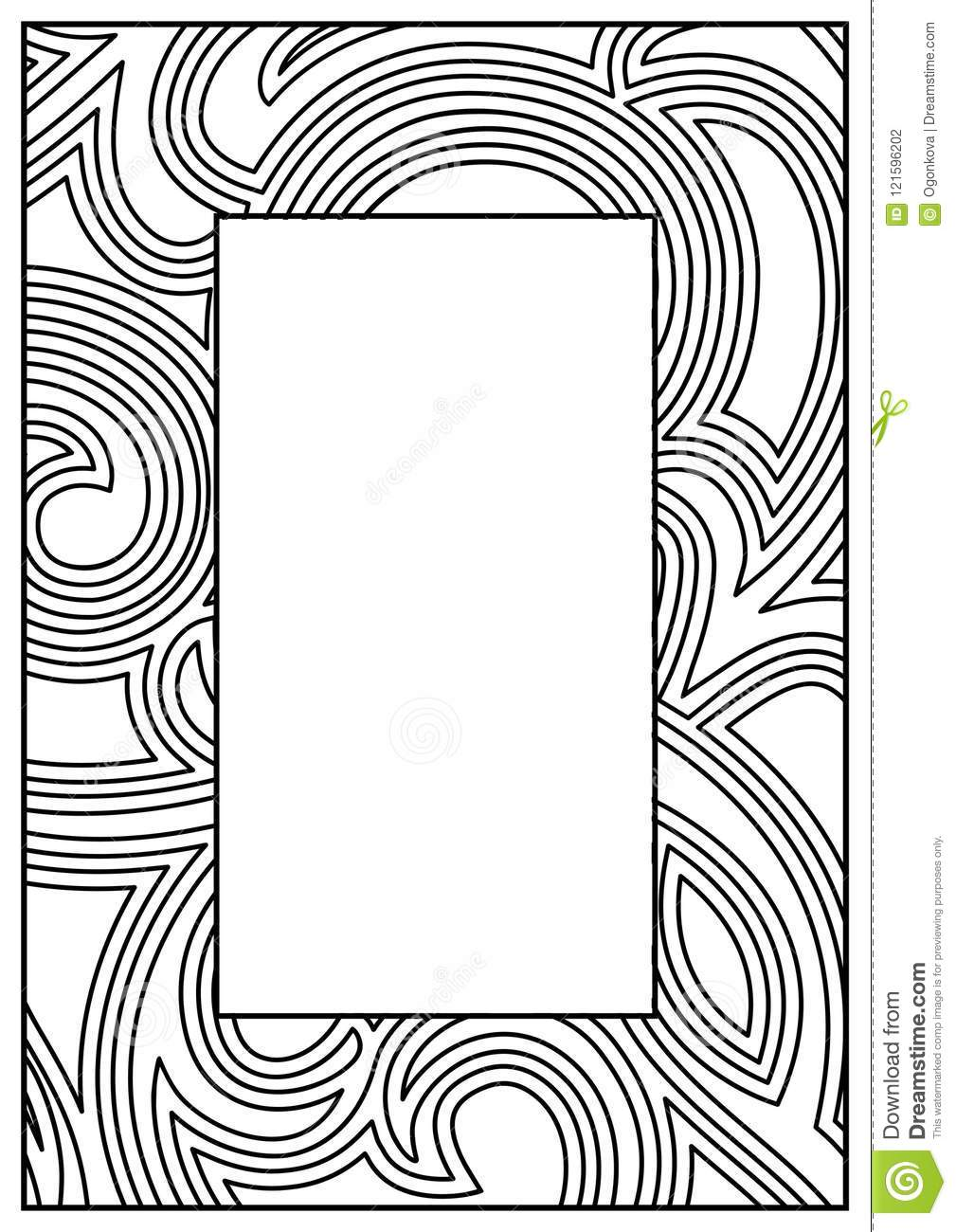 Frame Border Design Template. Black And White Decorative Vector ...