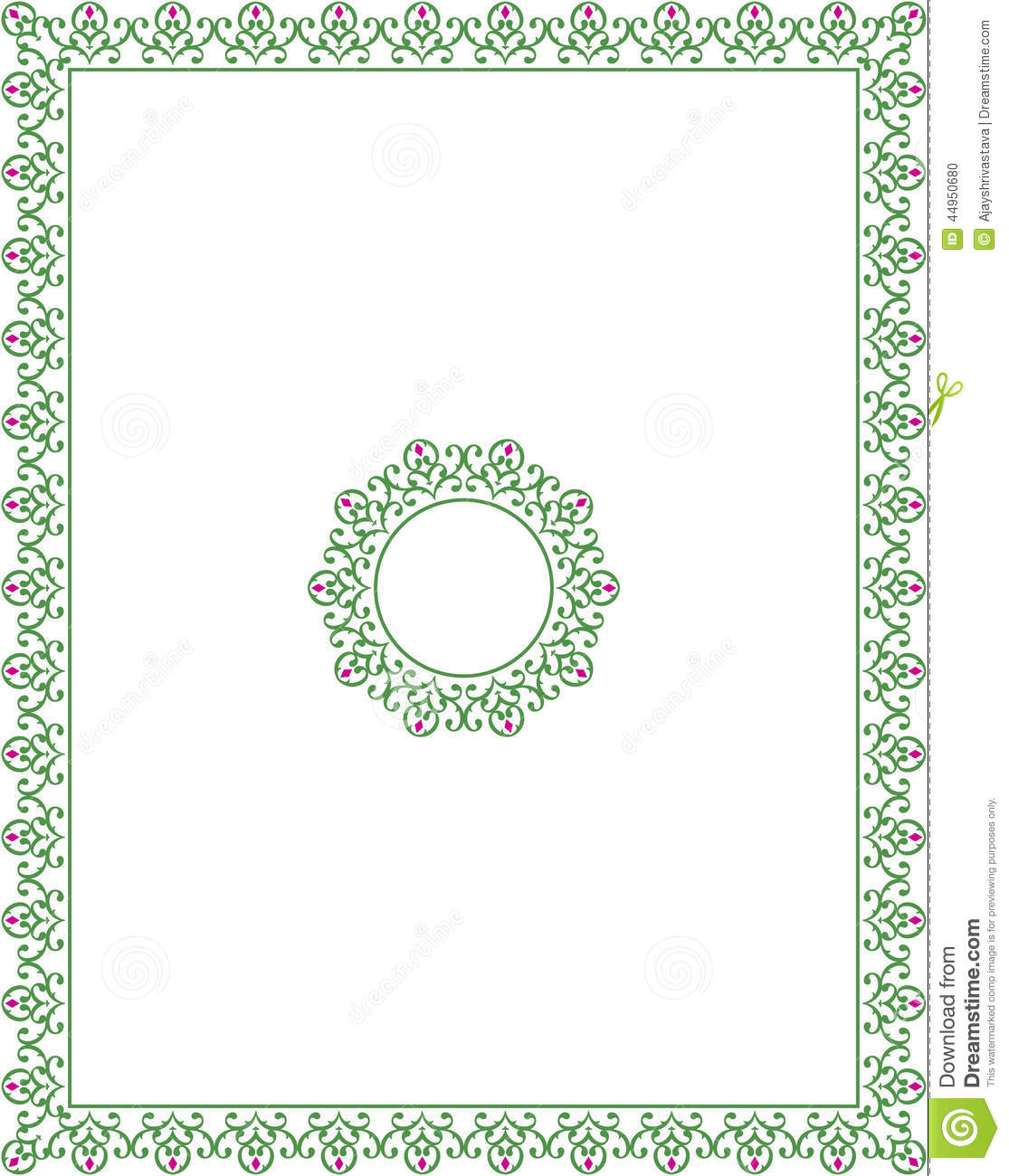 Frame Border Design Stock Vector - Image: 44950680