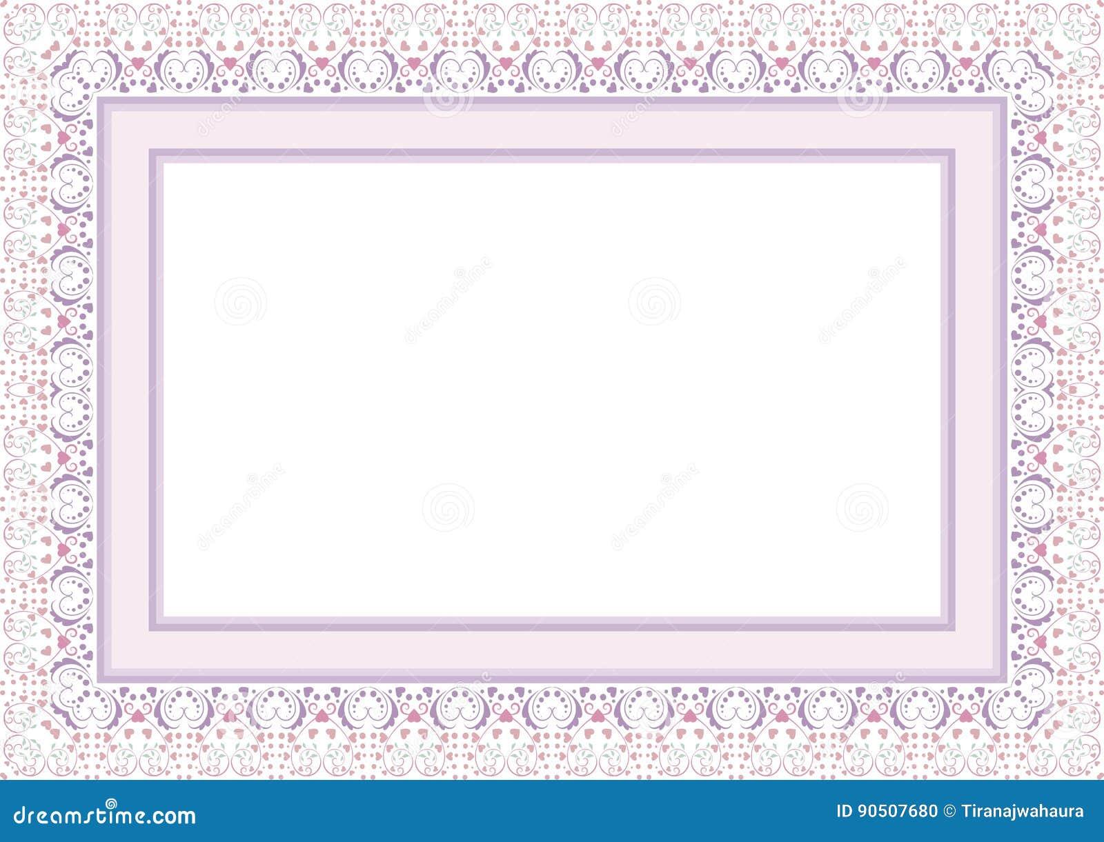 Frame Border With Lovely Design Stock Photo