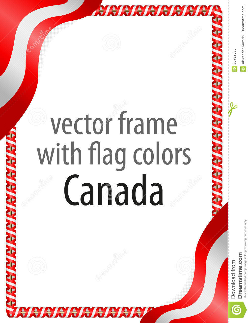 Frame And Border Of Ribbon With The Colors Of The Canada ...