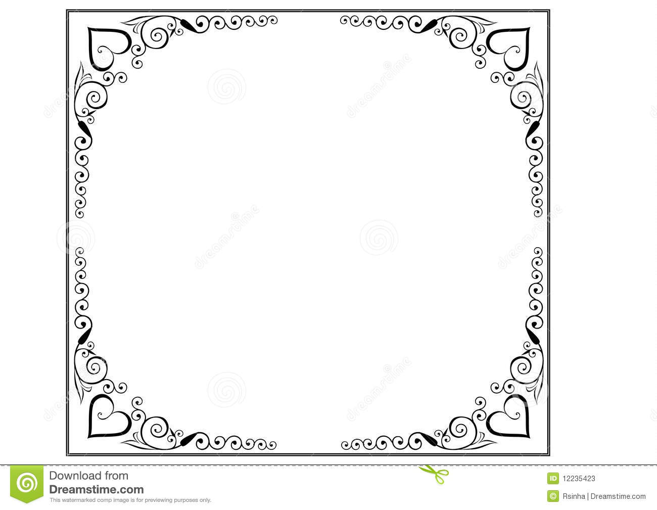 Frame And Borders Page Decoration Stock Vector