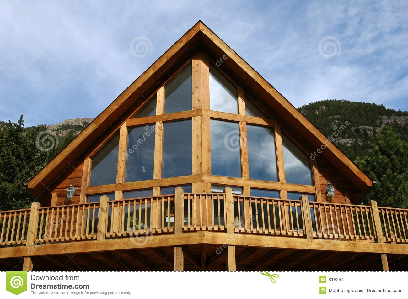 A frame cabin stock photo image of real housing home for What is a frame home