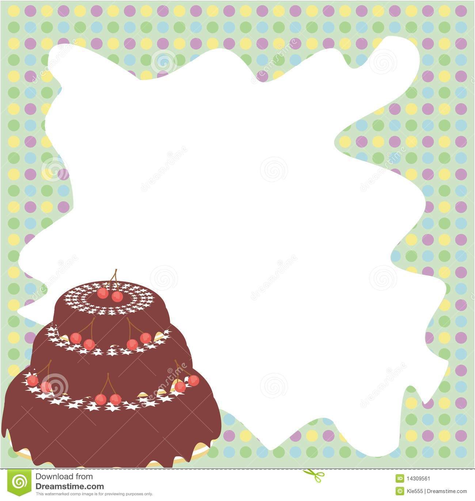 Cake With Photo Frame : Frame With Cake Stock Image - Image: 14309561