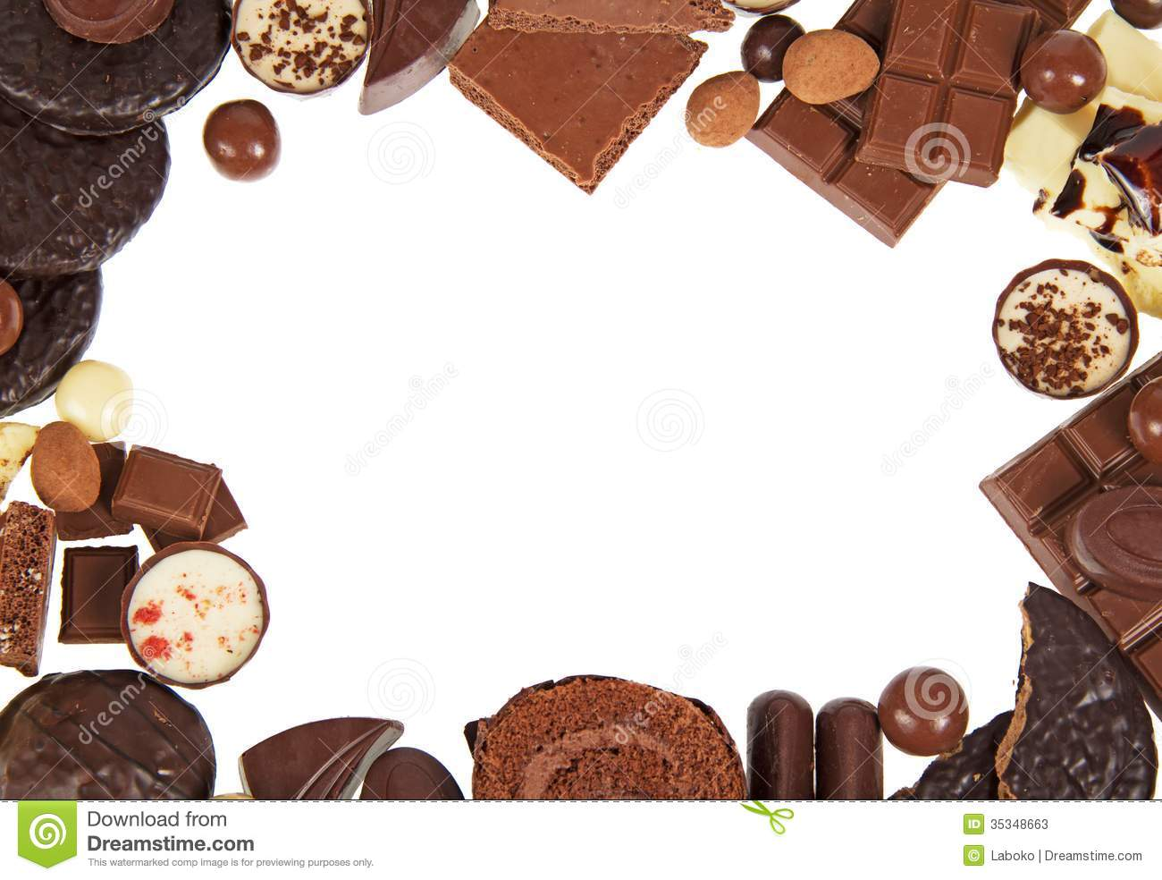 Frame Of Chocolates Stock Photos Image 35348663