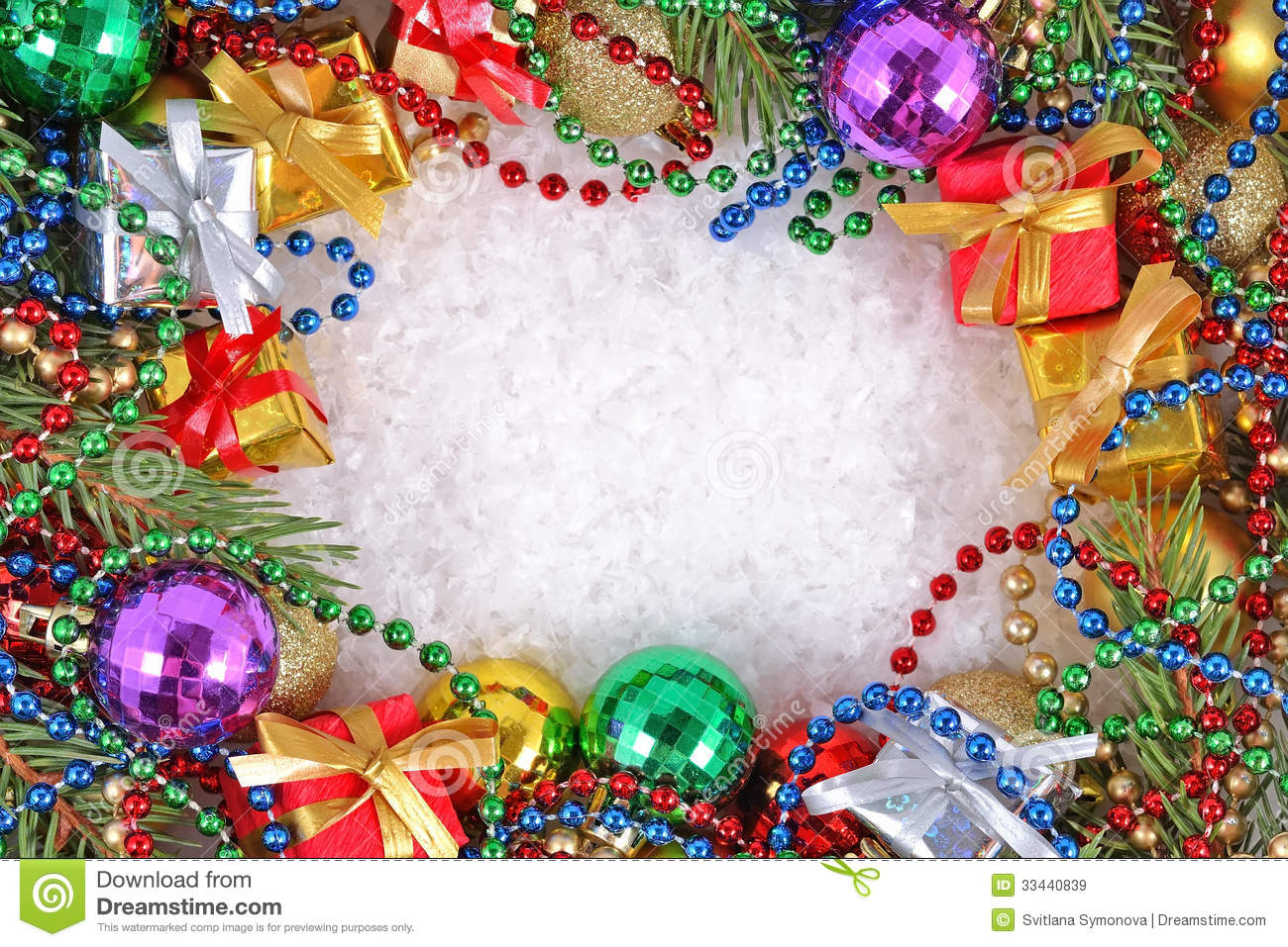 Frame Of Christmas Decorations Stock Image - Image of decoration ...