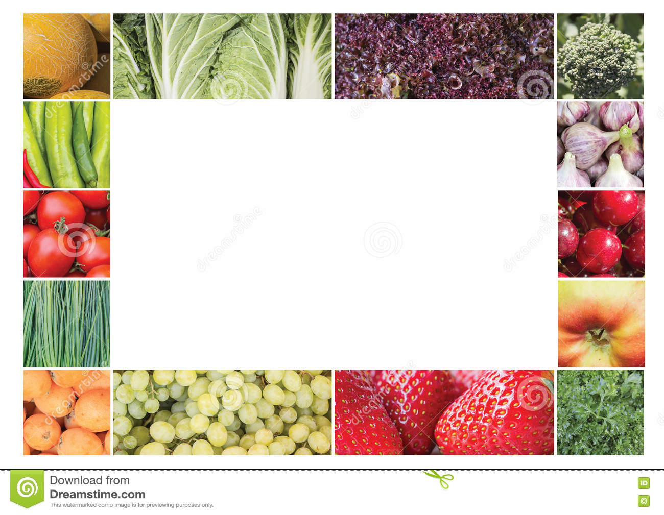 Frame, Collage Of Plant Products Stock Image - Image of border ...
