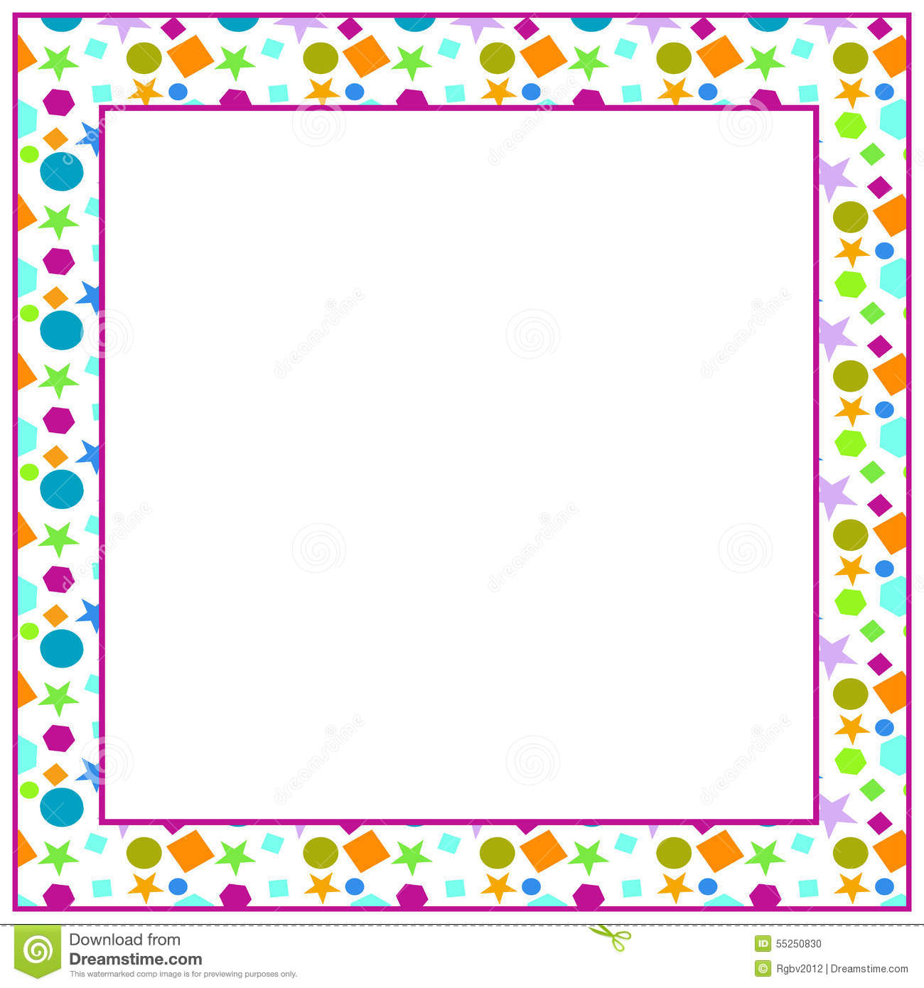 Frame from colored shapes stock vector. Illustration of modern ...