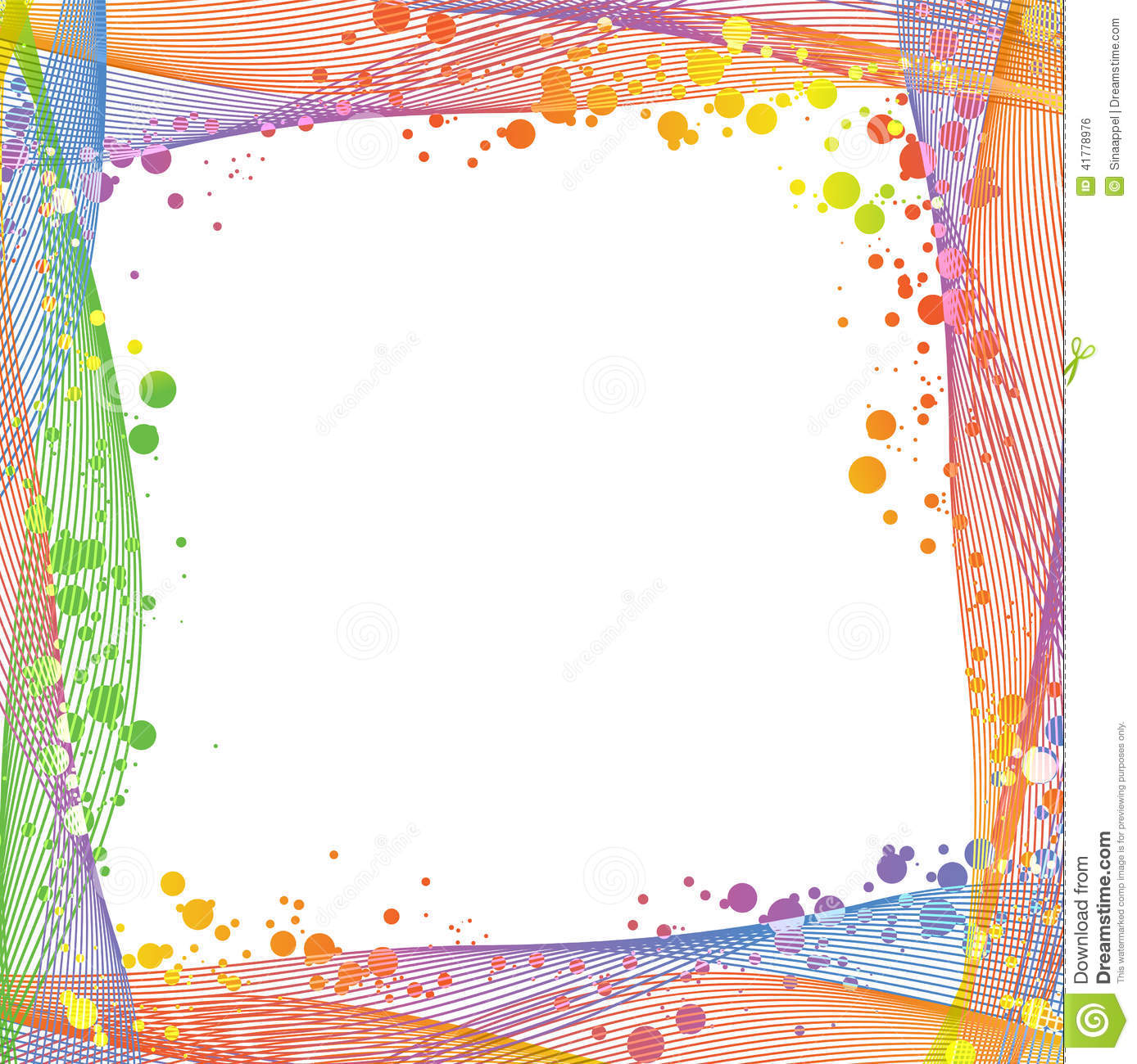Colorful Frame Vector - Clipart Vector Design •