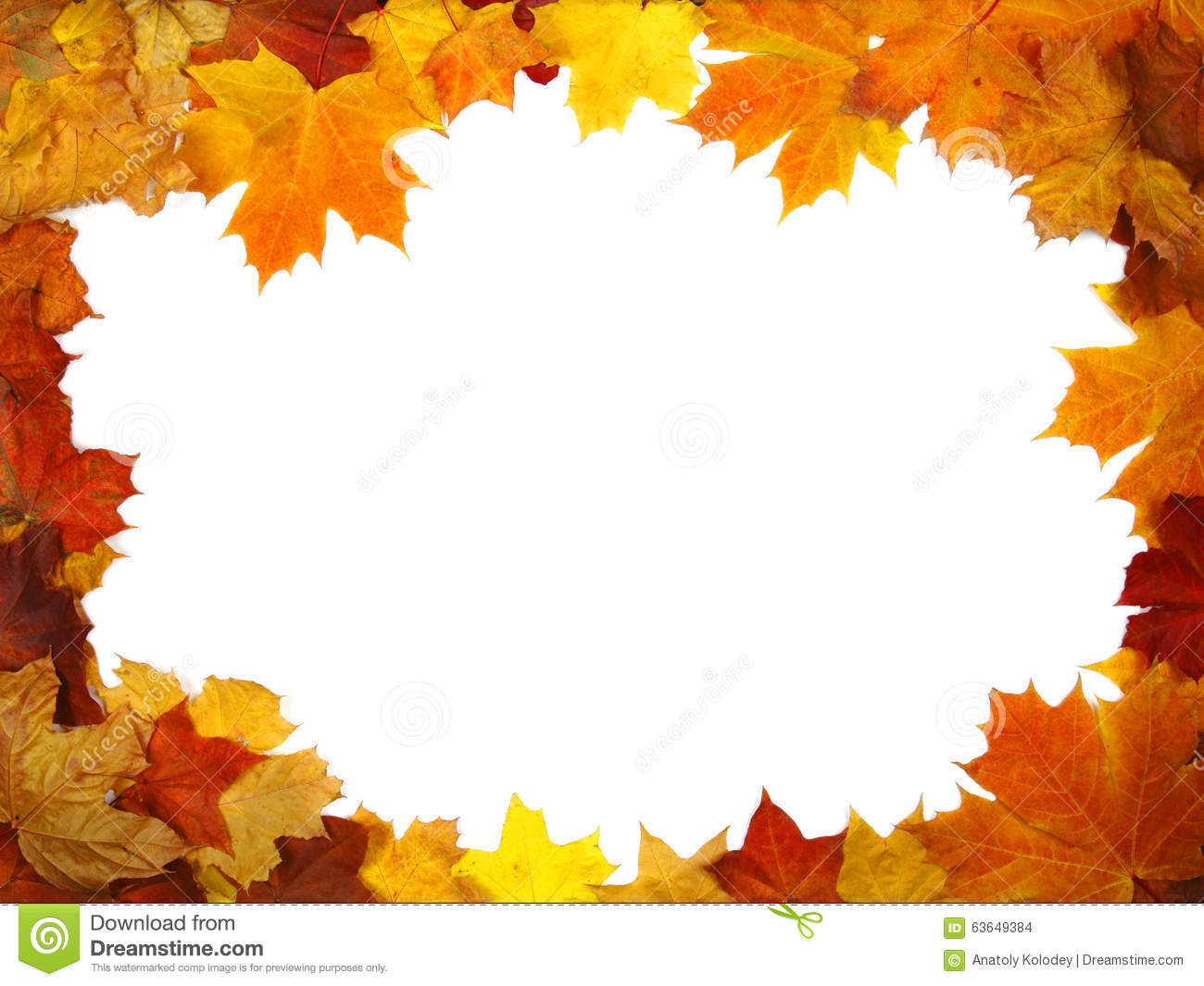 Frame of colorful autumn leaves