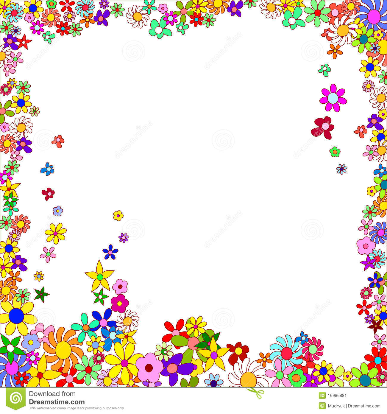Frame Of Colorful Flowers Stock Image - Image: 16986881
