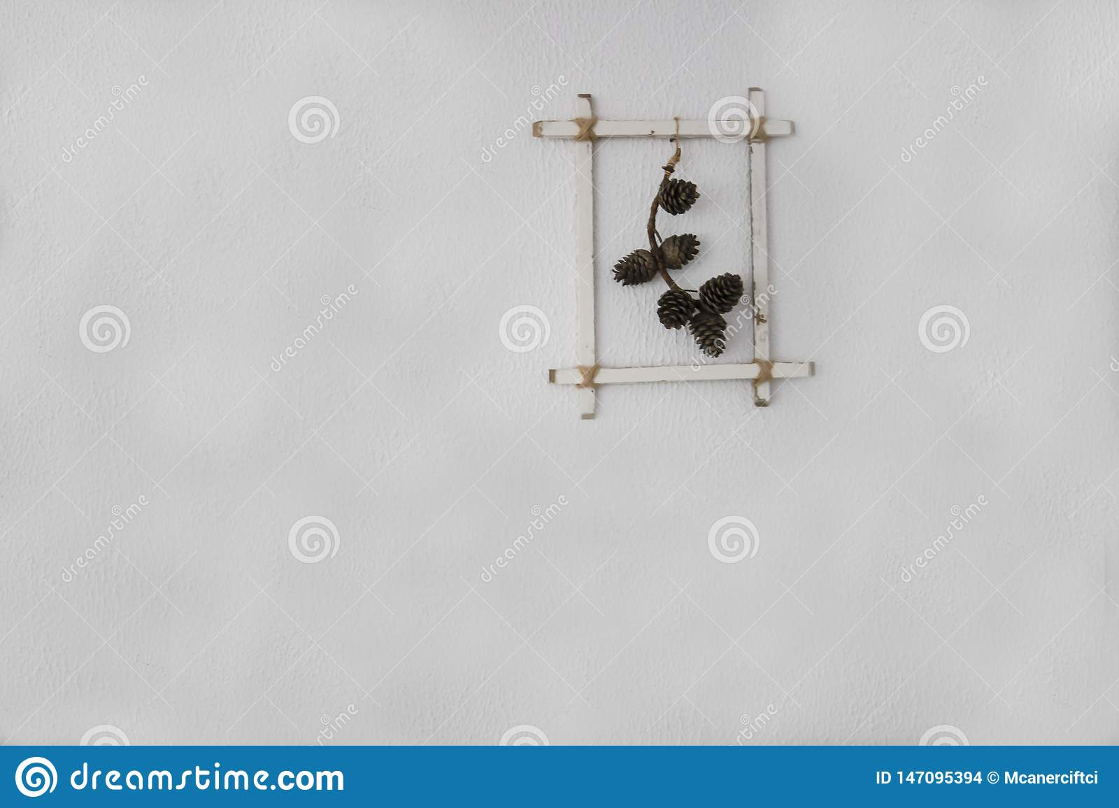 Frame of cones in white background
