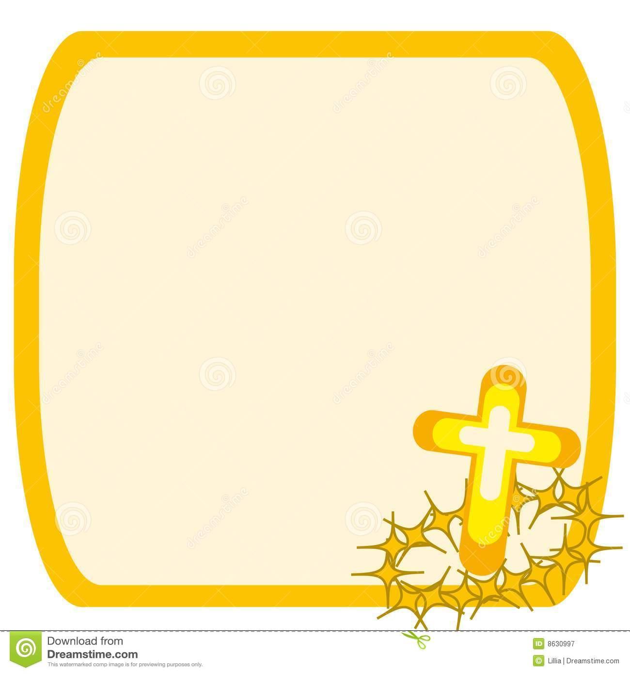 frame with cross and crown of thorns royalty free stock photography