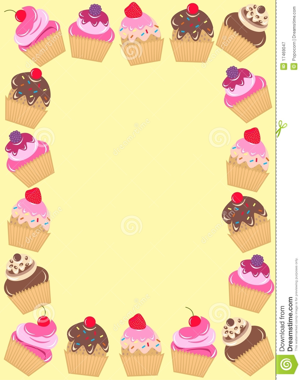 Frame of cupcakes royalty free stock photography image 17469047