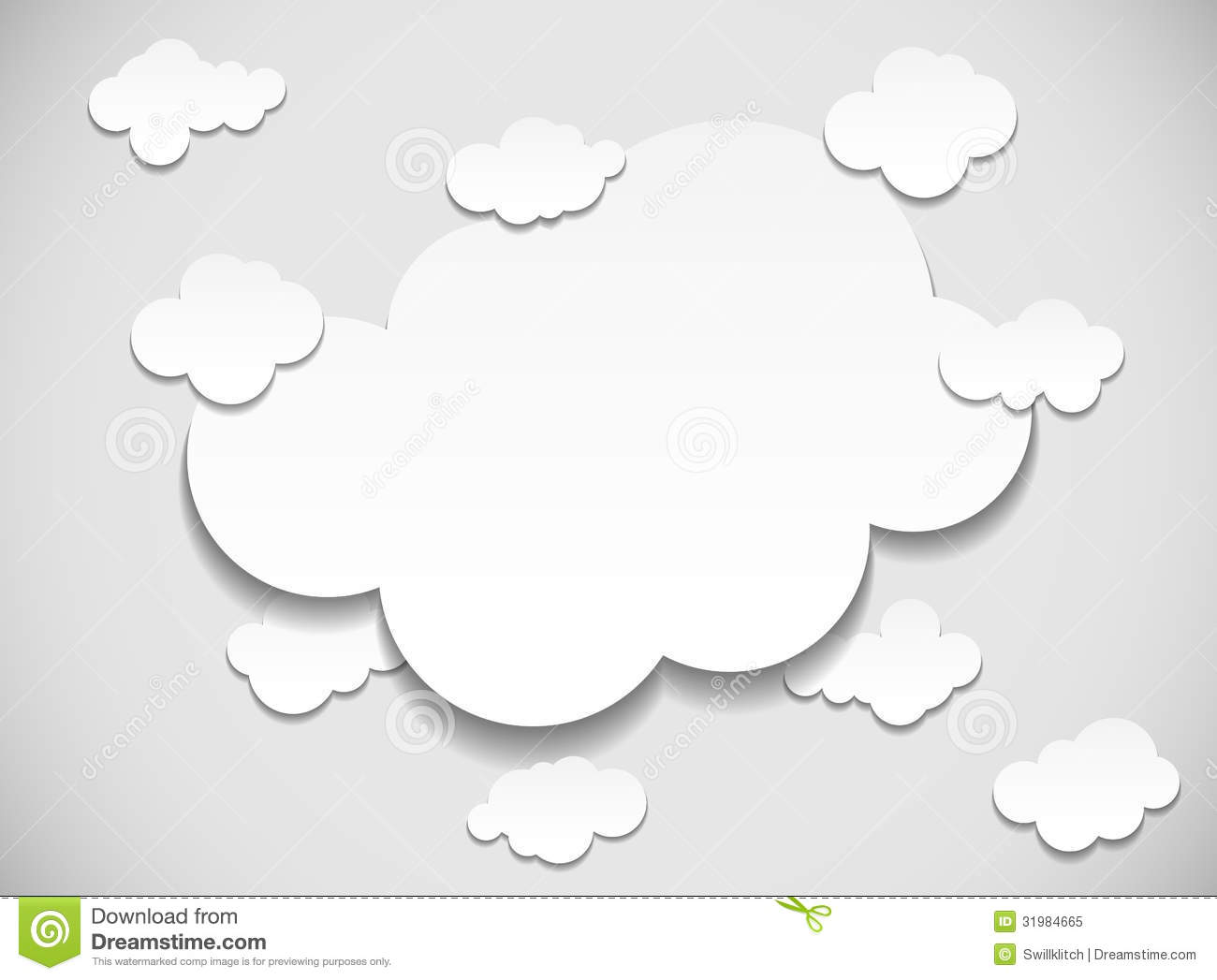 Frame with cut out clouds royalty free stock photo image for How to make a paper cloud