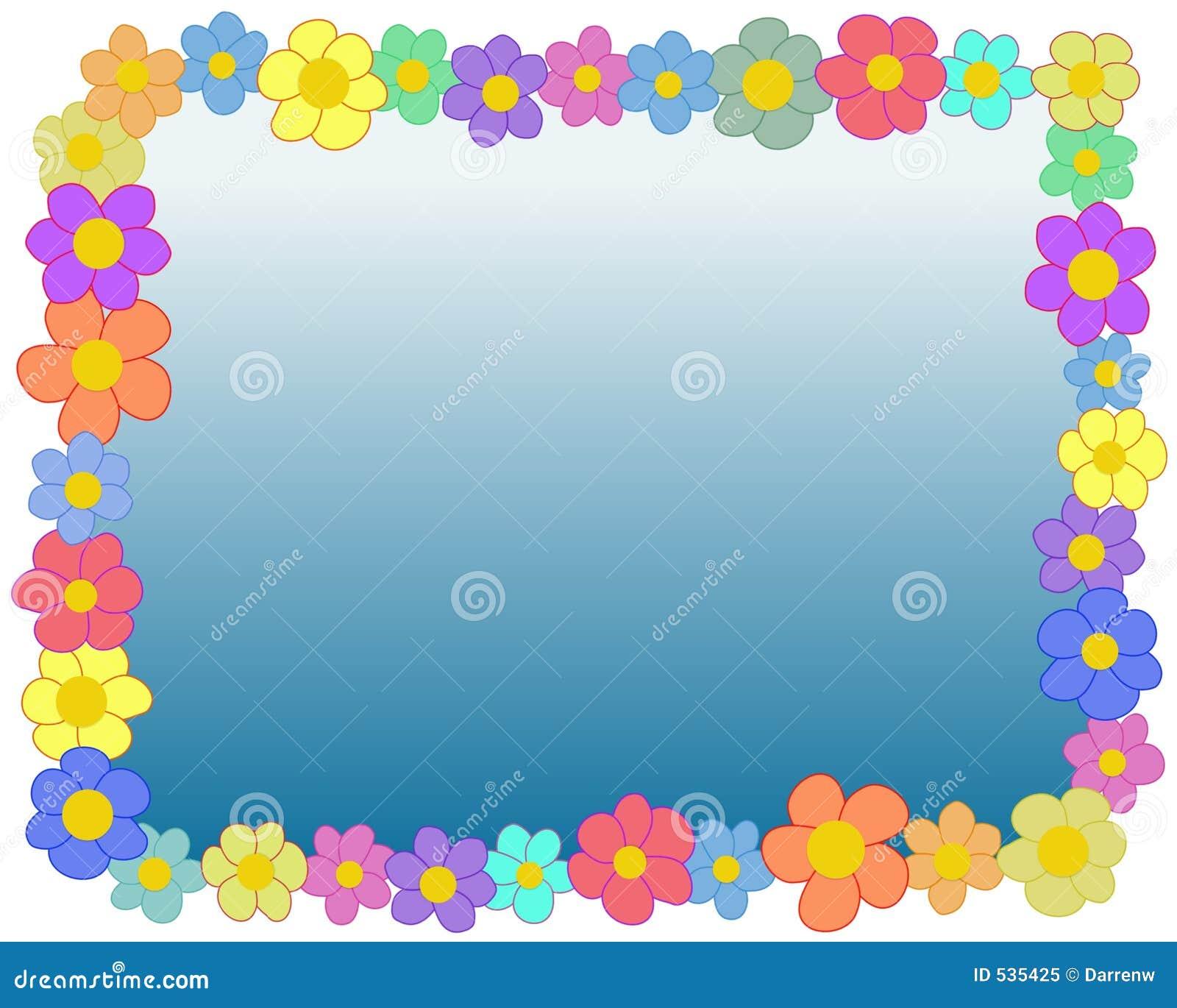 Frame da flor do retângulo