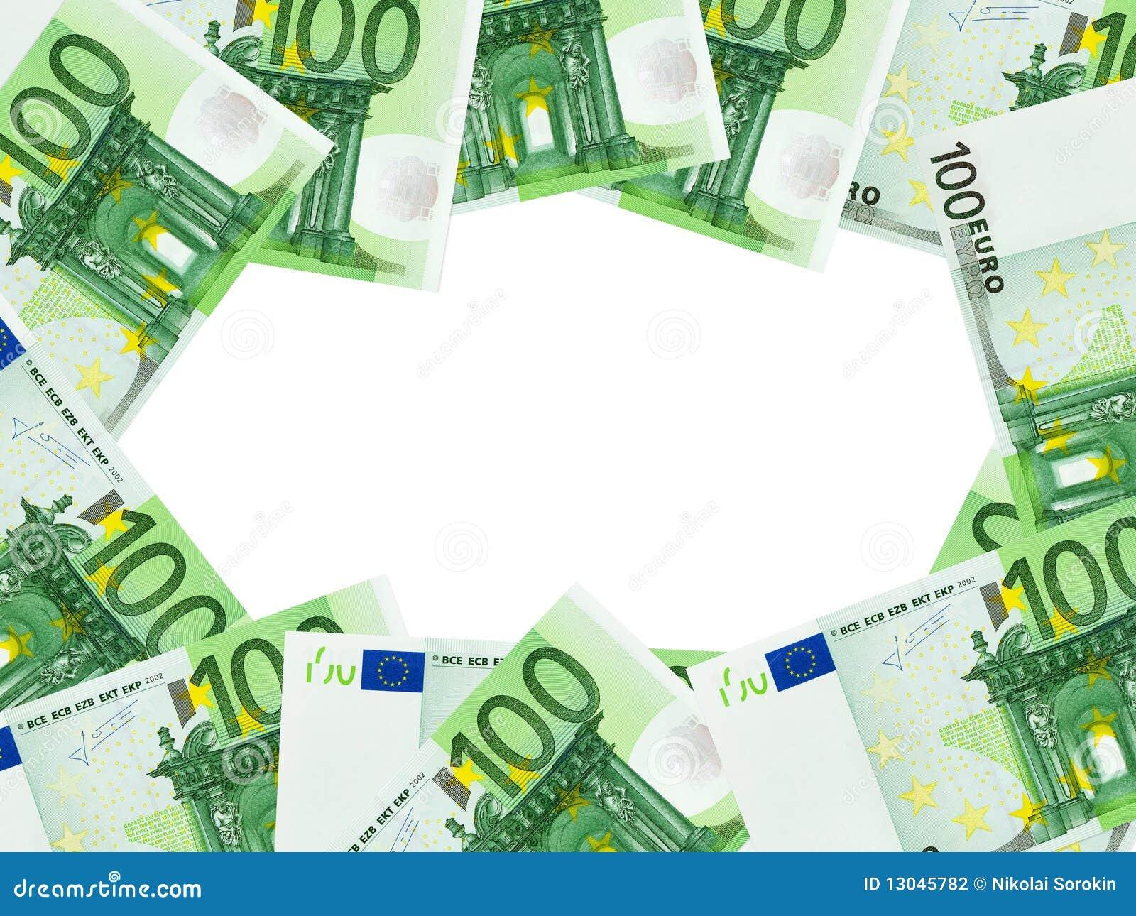 Frame dat van geld wordt gemaakt