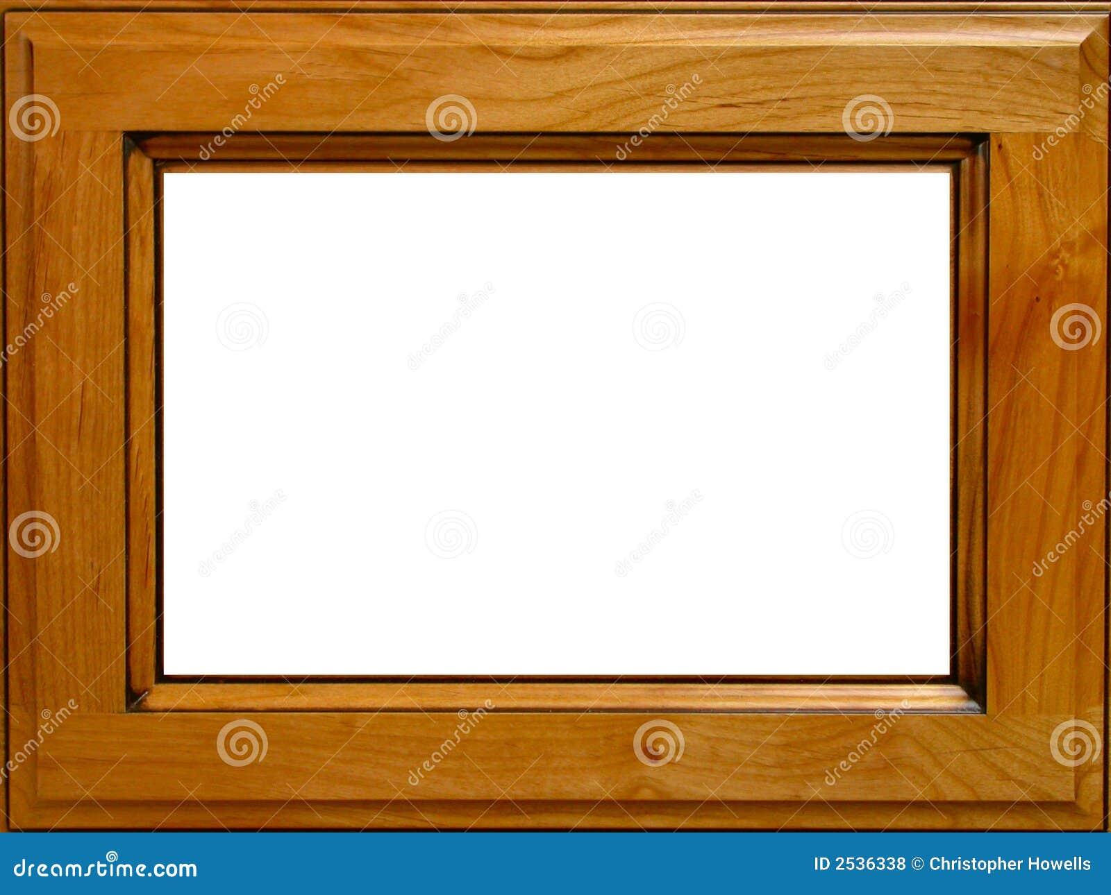 Frame de retrato de madeira do amieiro