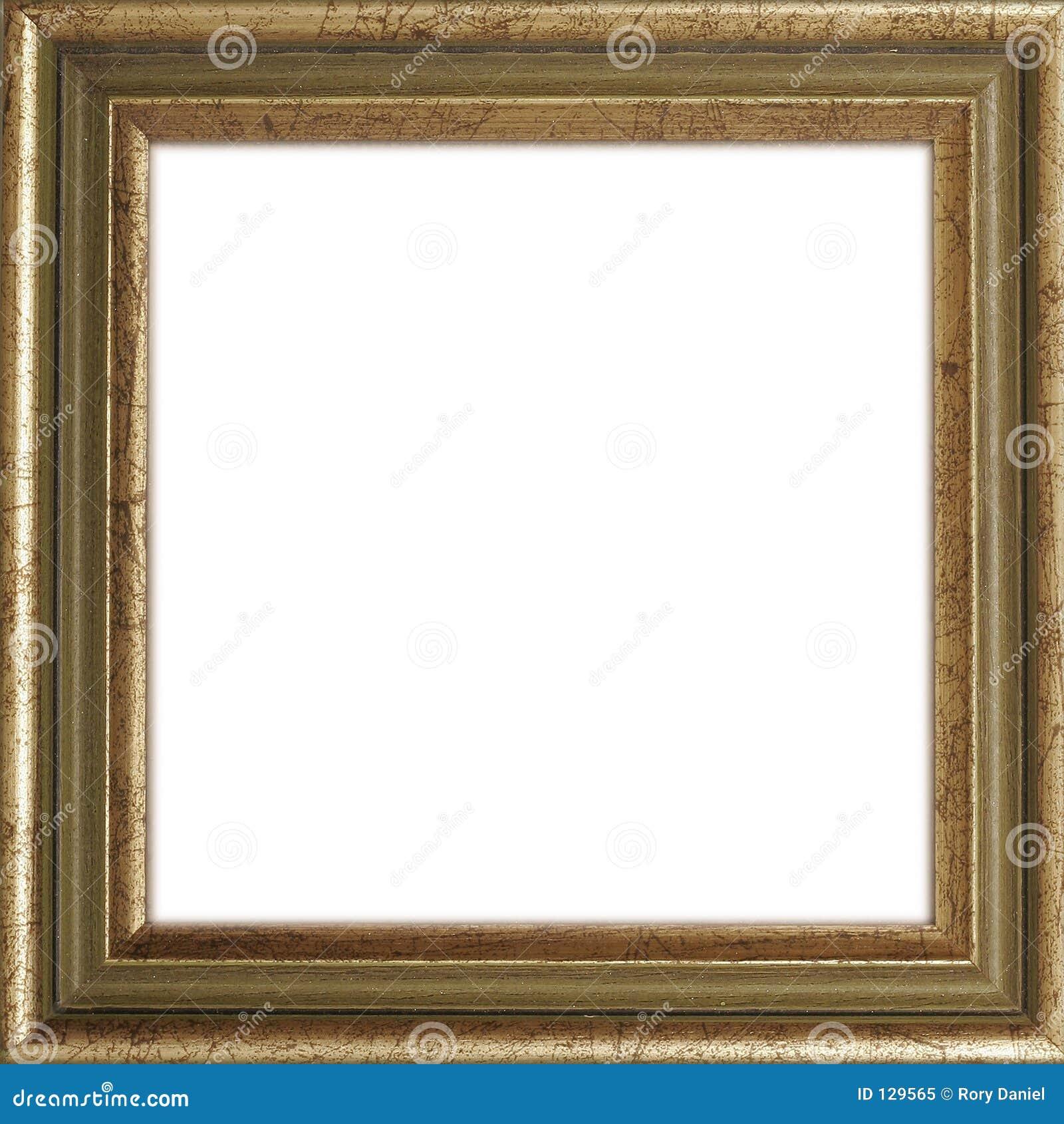 Frame de retrato dourado