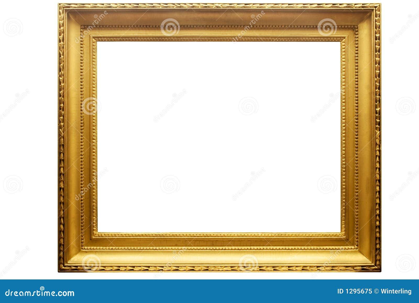 Frame de retrato dourado retangular com trajeto