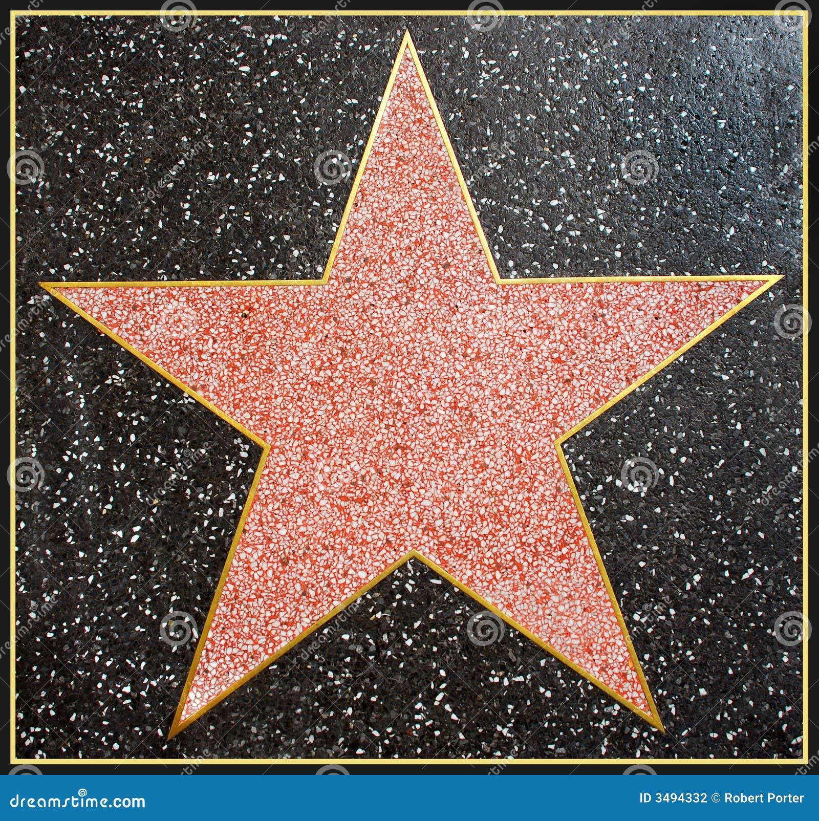 frame de ster van hollywood stock foto   afbeelding 3494332