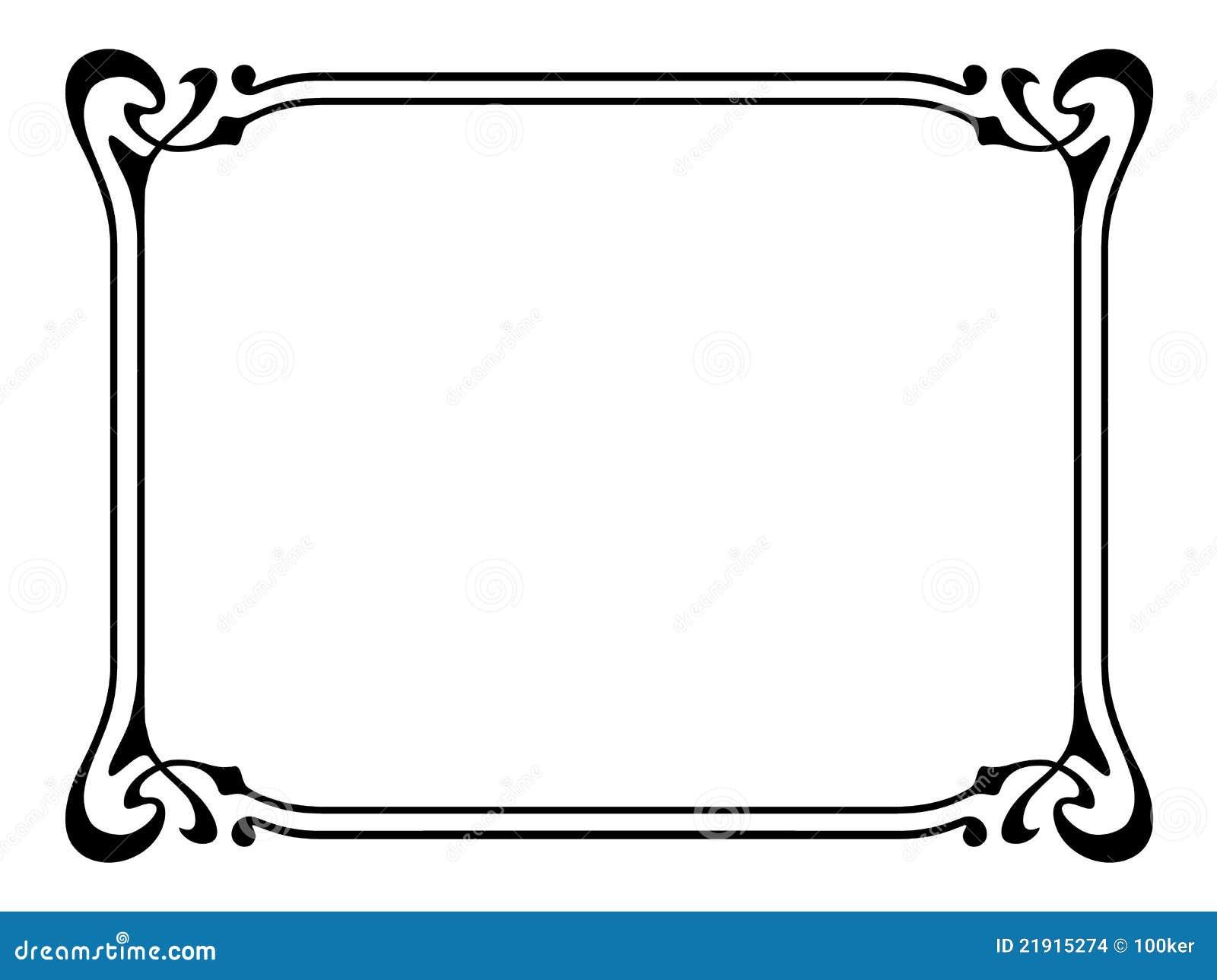 Frame decorativo decorativo do nouveau da arte