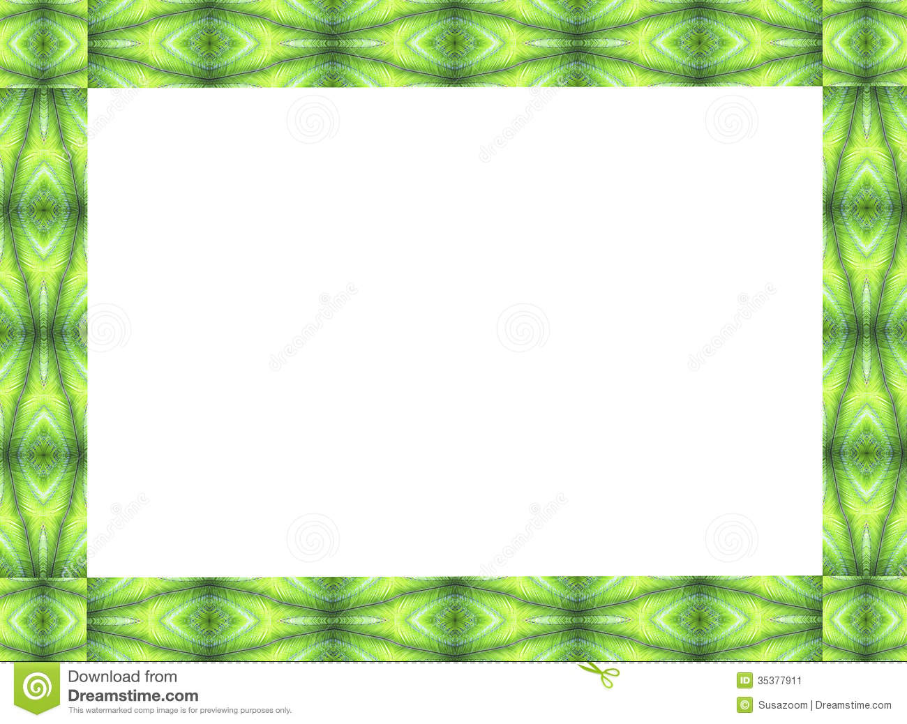 Frame Design Of Palm Fronts Stock Image Image 35377911