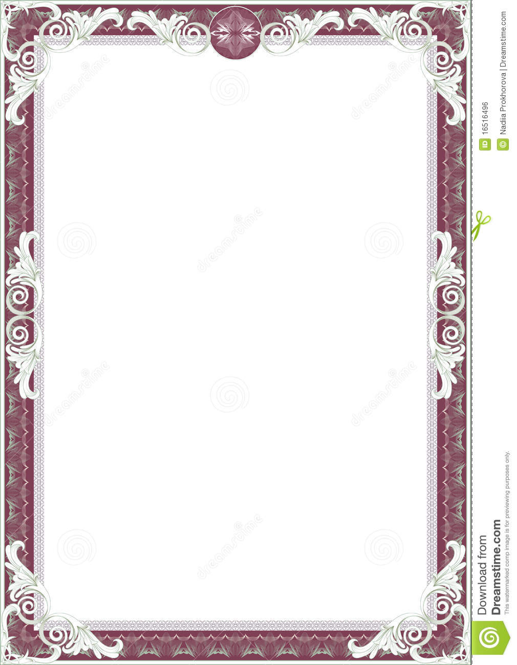 Frame For Diploma Or Certificate. Stock Illustration - Illustration ...