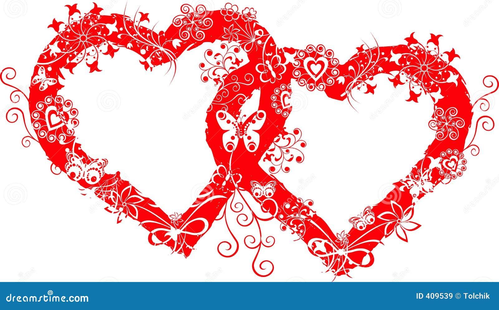 Frame do Valentim de Grunge, coração, vetor