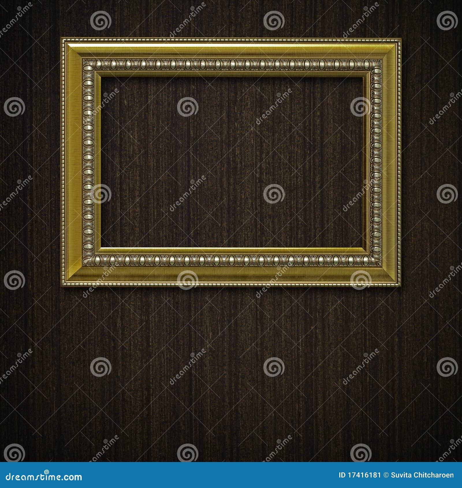 Frame do vintage na parede de madeira