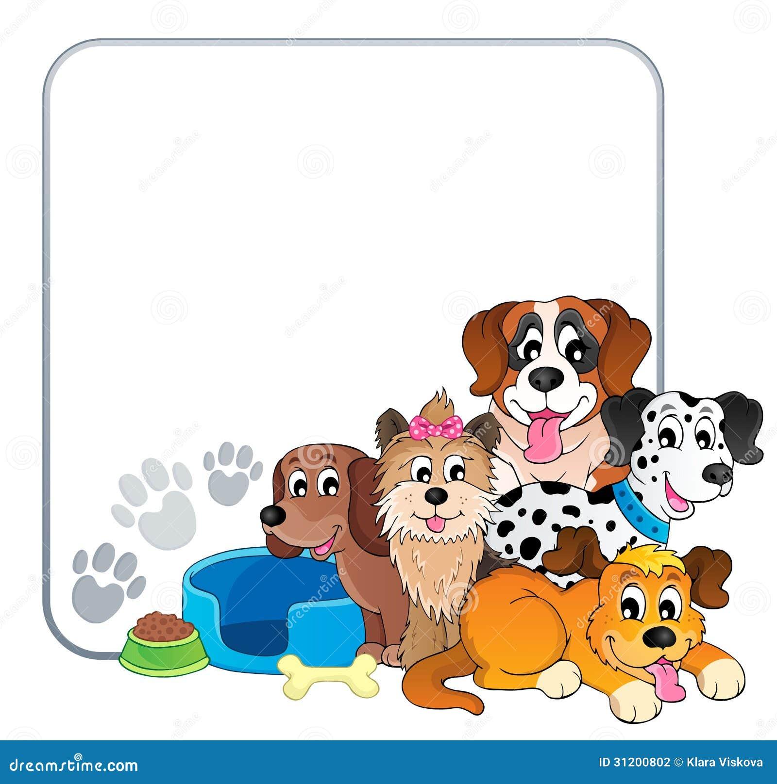 frame with dog theme 2 stock photography   image 31200802