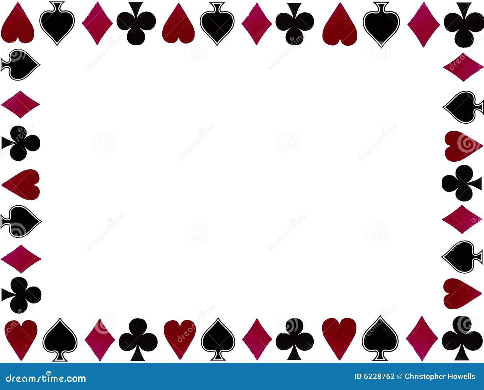 Frame dos símbolos dos cartões de jogo