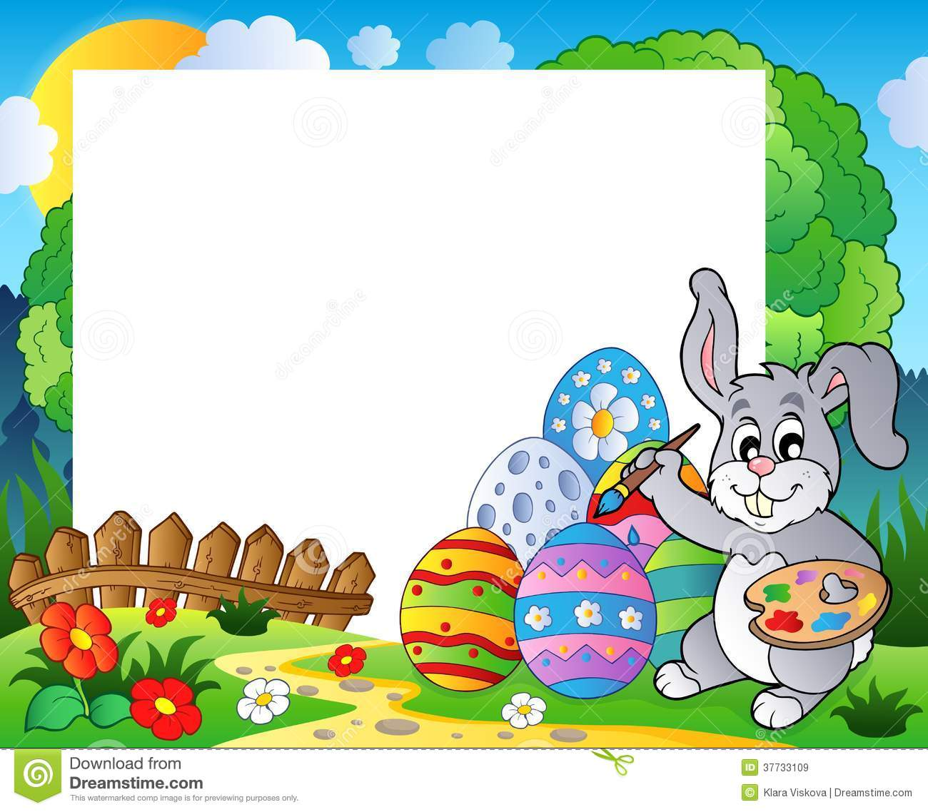 Frame With Easter Bunny Theme 6 Royalty Free Stock Images - Image ...