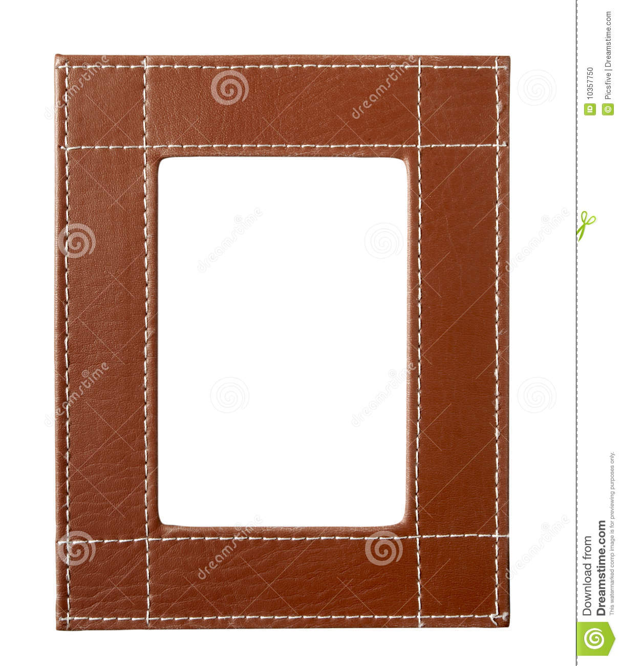 frame edges brown leather