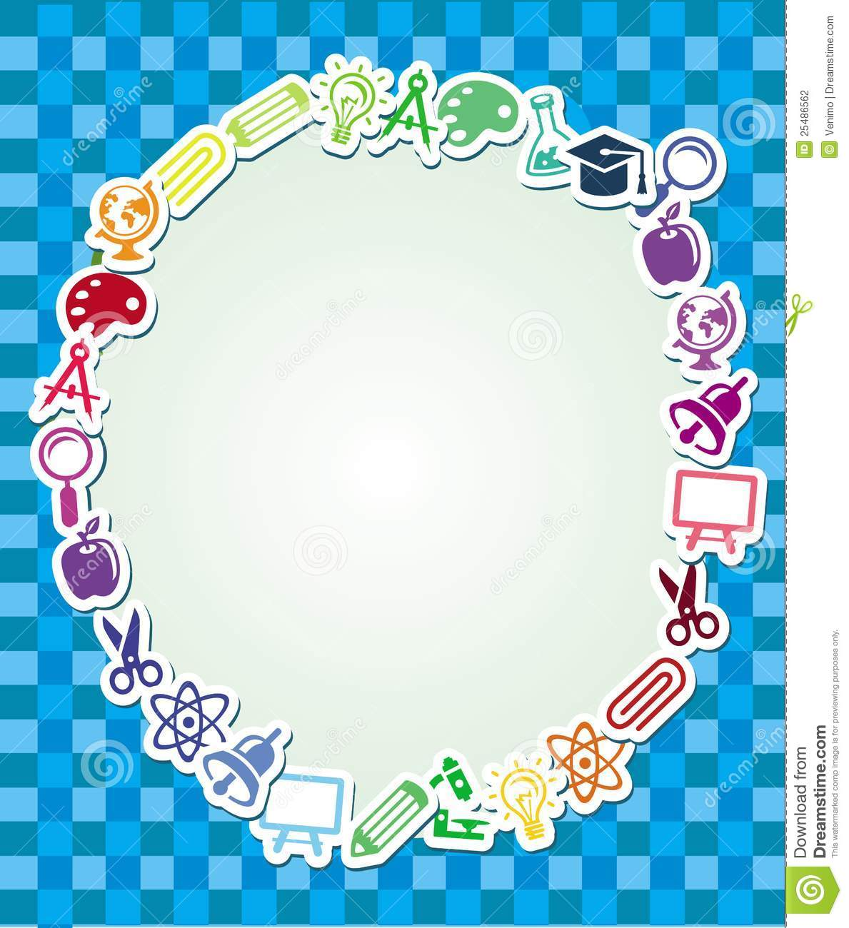 Frame With Education And Science Sticker Stock Vector - Illustration ...