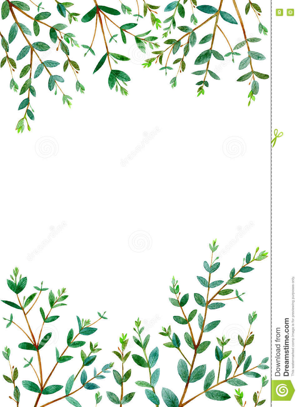 frame with eucalyptus branches stock illustration