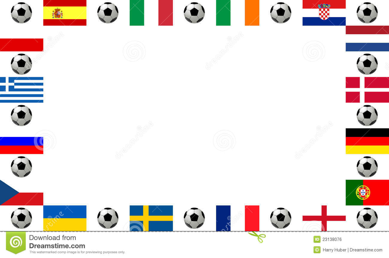 frame european football championship 2012 royalty free stock image