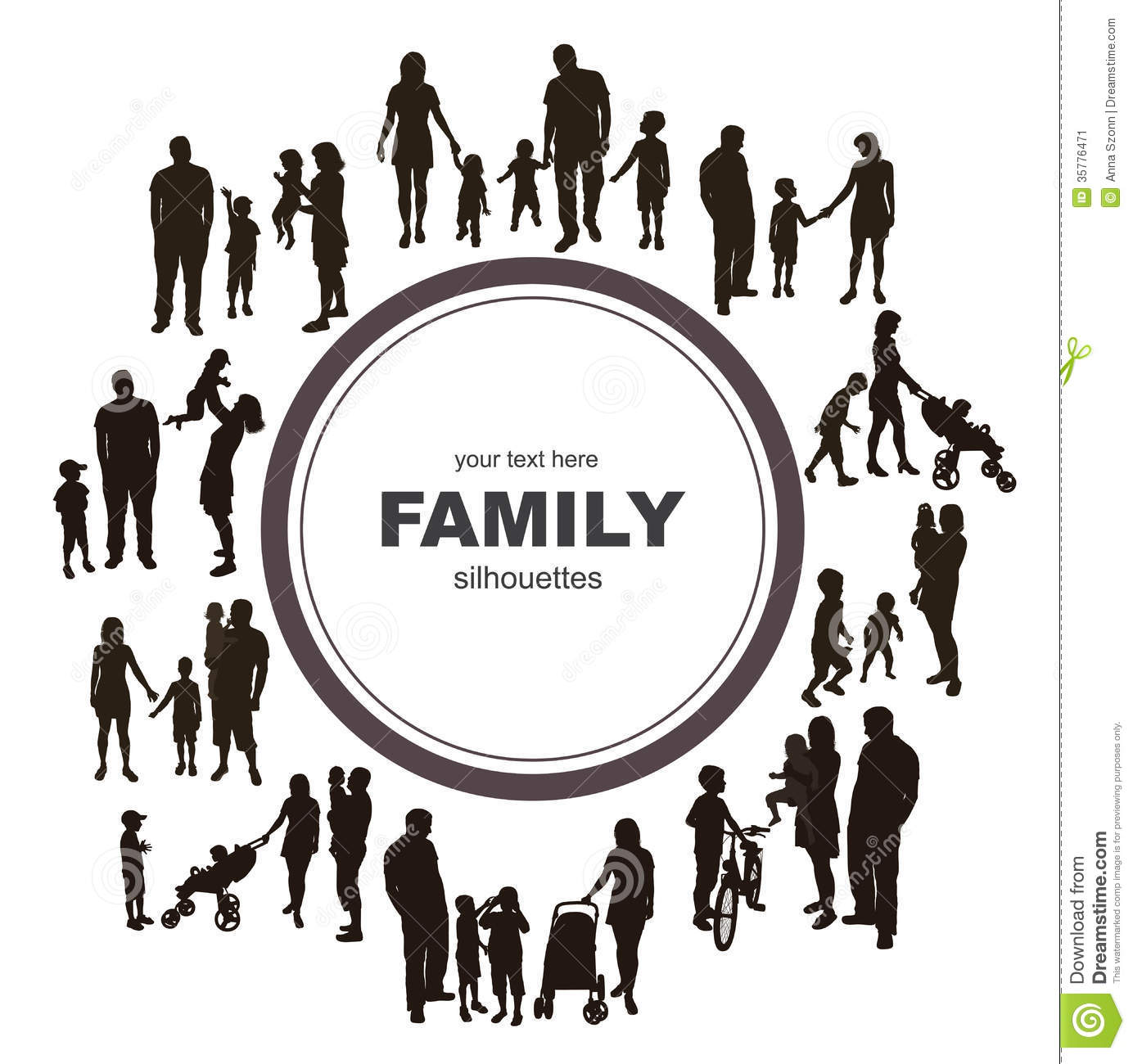 frame with family silhouettes stock image image 35776471 family reunion clip art images free Family Reunion Logos